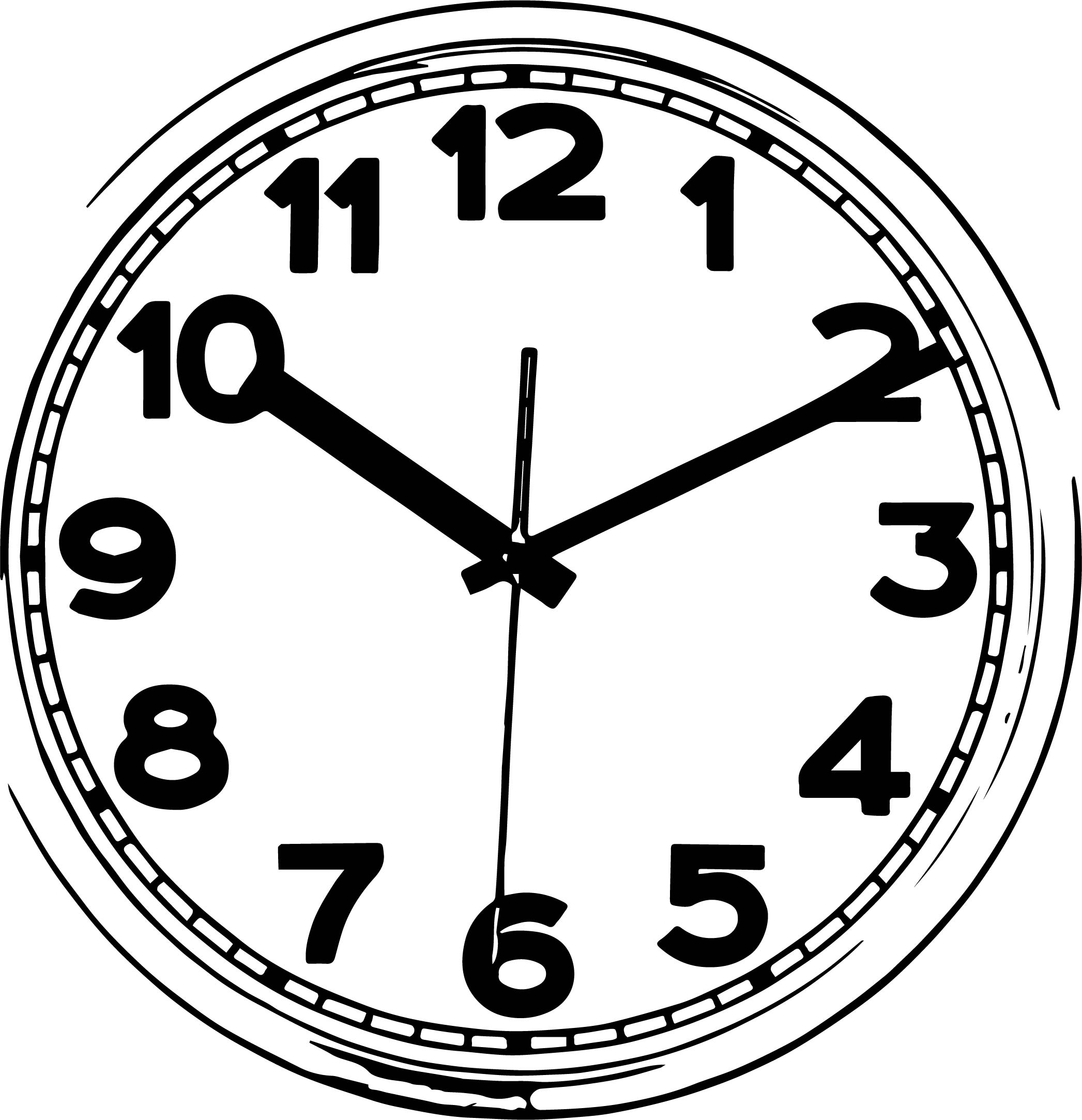 Clock Coloring Page WeColoringPage 129