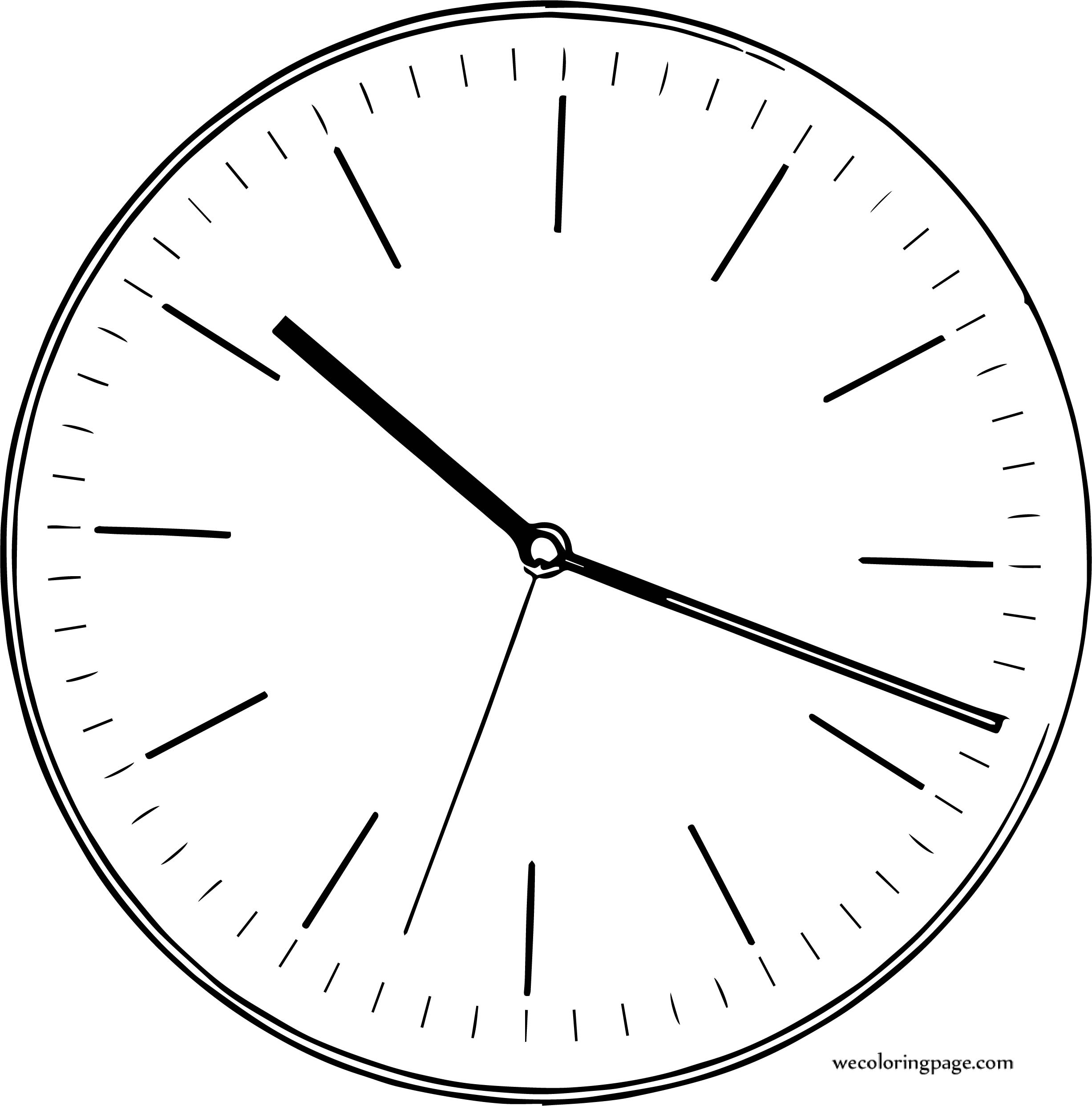 Clock Coloring Page WeColoringPage 169