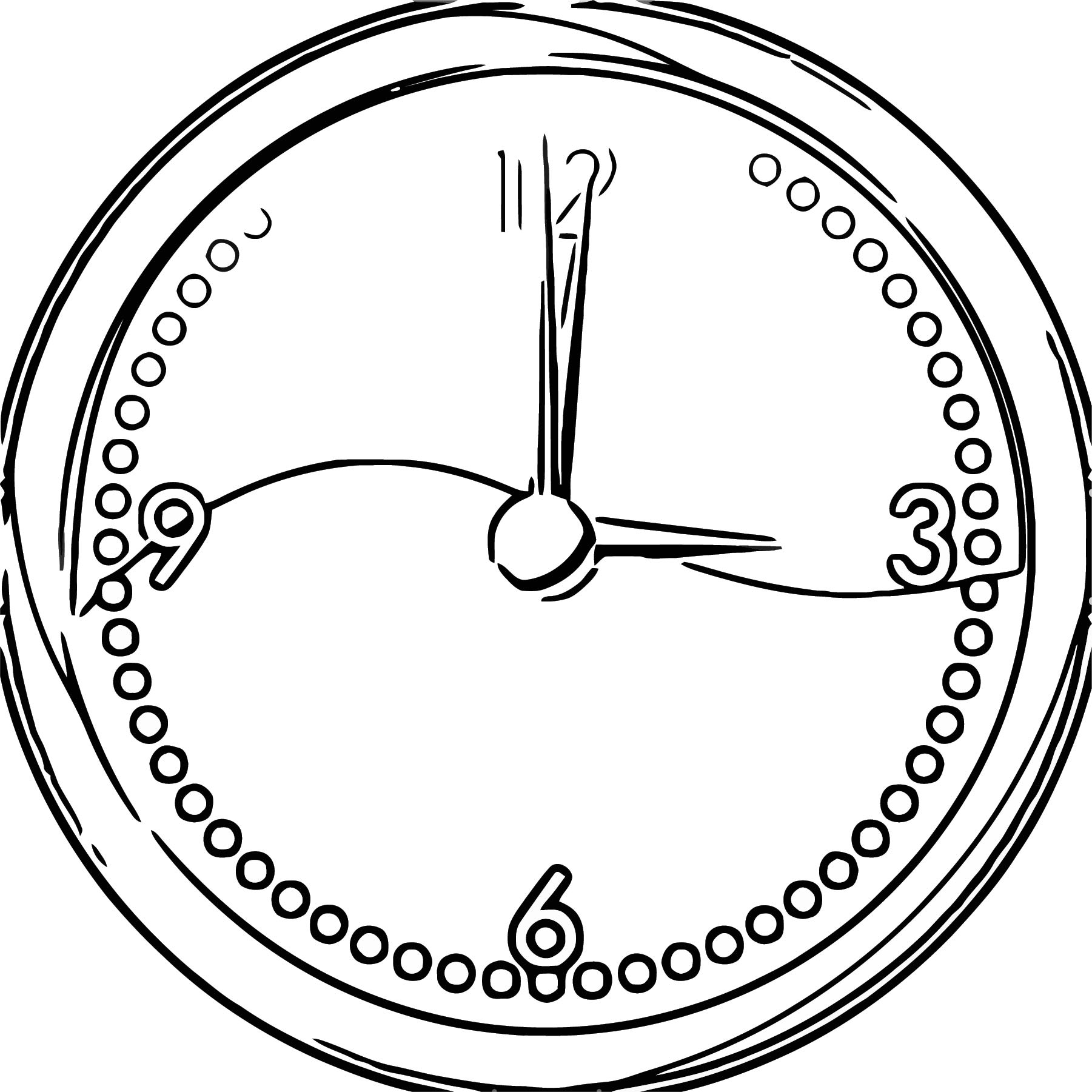 Clock Face 155469 6 Free Printable 40 Cartoonized Free Printable Coloring Page