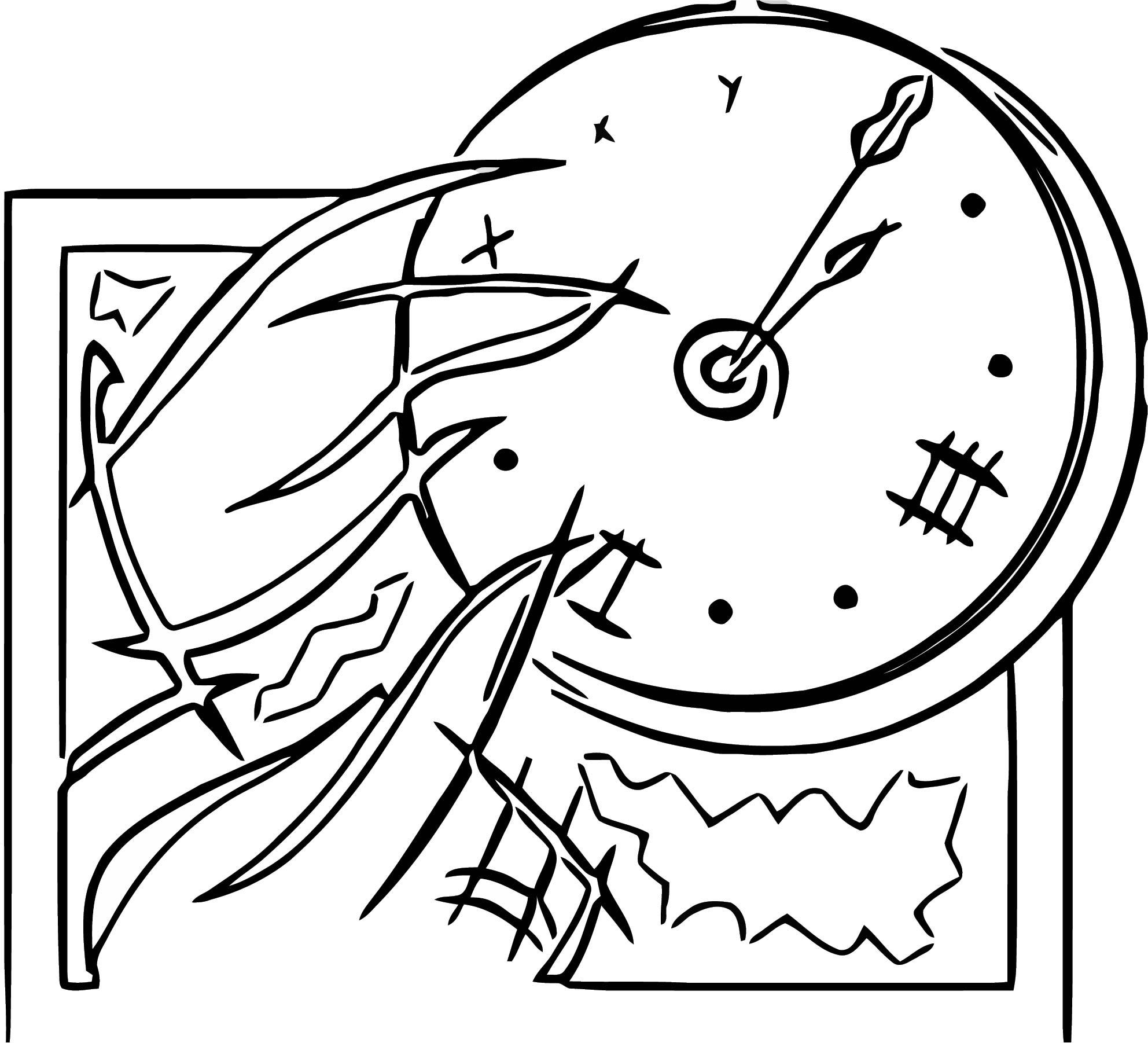 Clock Free Printable 1 Cartoonized Free Printable Coloring Page
