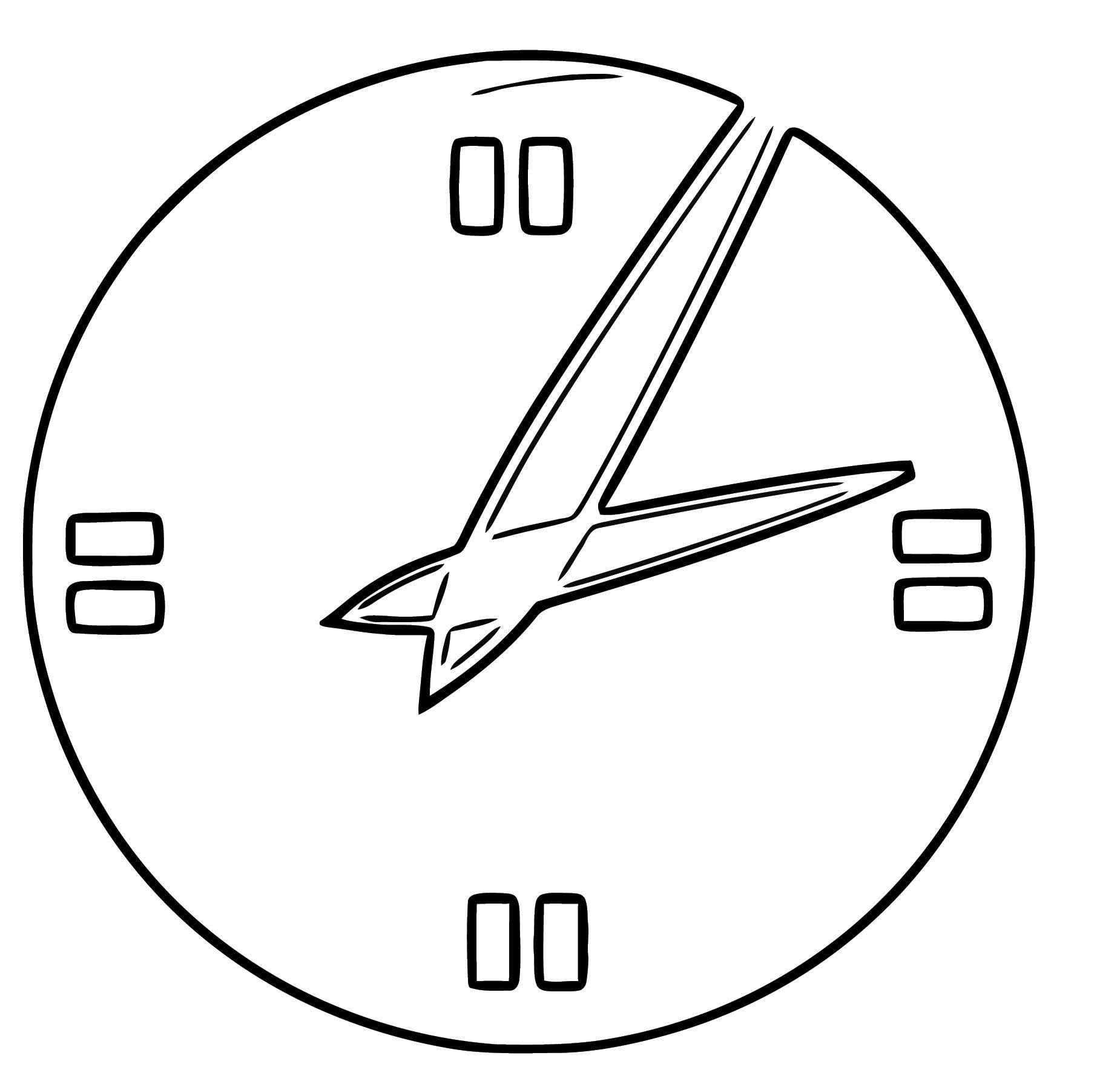 Clock Free Printable Hi Cartoonized Free Printable Coloring Page
