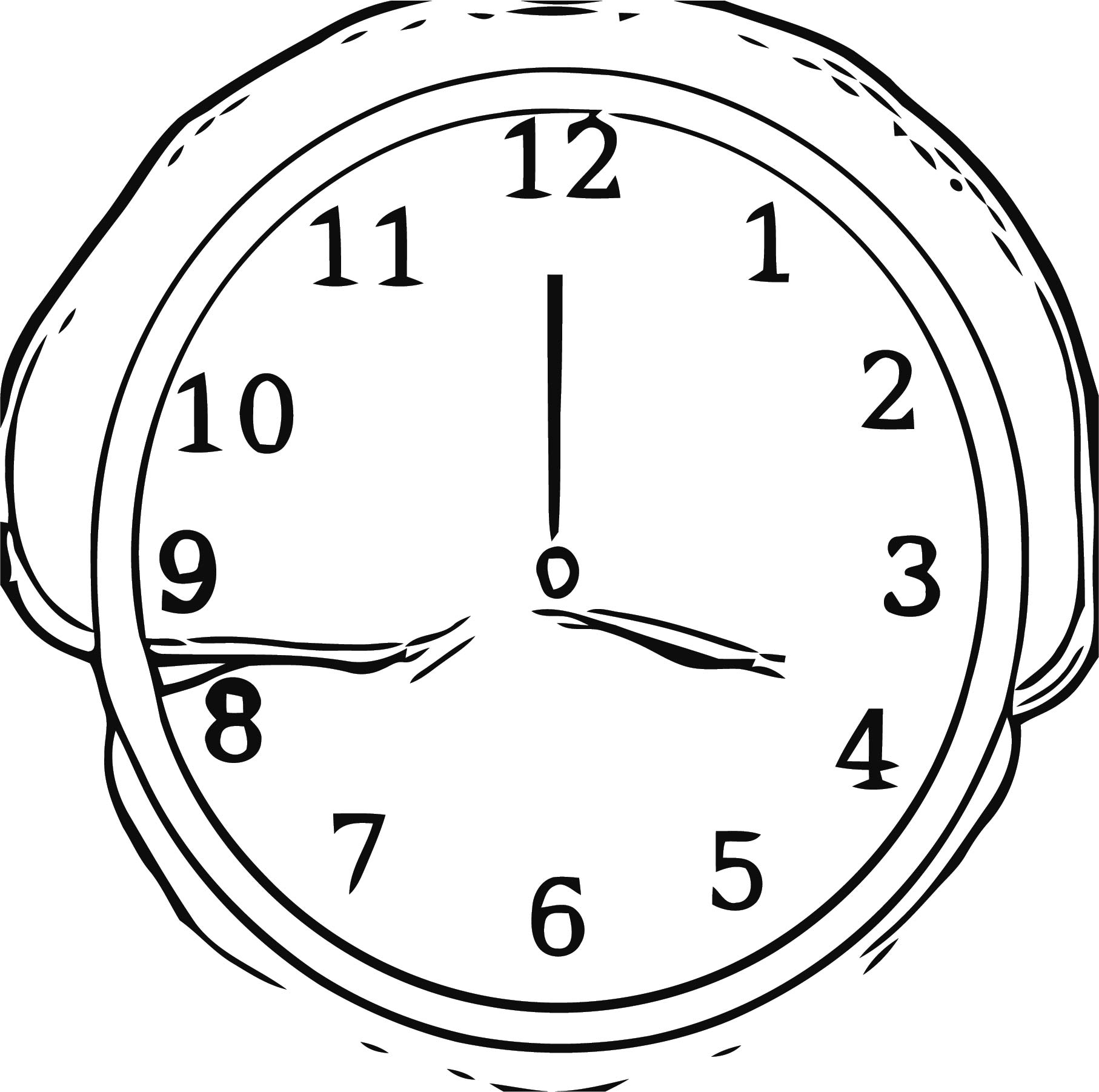 Clock Md Free Printable 1 Cartoonized Free Printable Coloring Page
