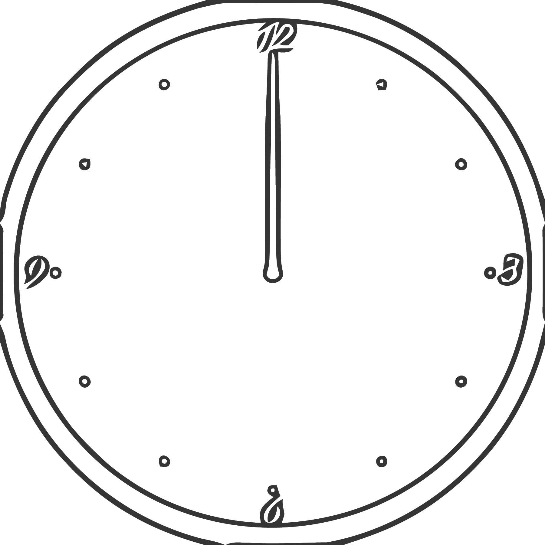 Clock Md Free Printable 3 Cartoonized Free Printable Coloring Page