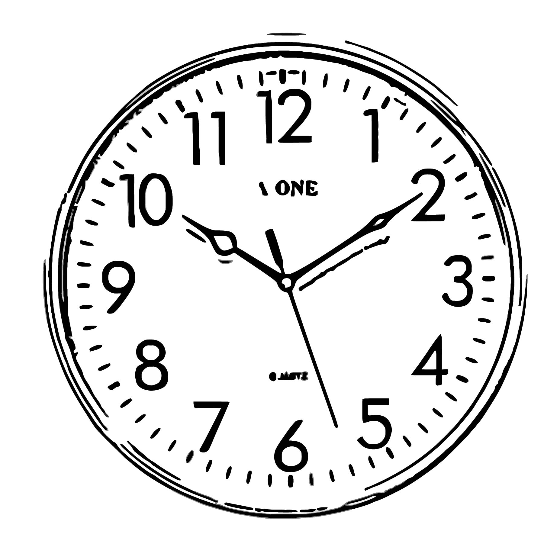 Clock New 24 Bl Free Printable Og Cartoonized Free Printable Coloring Page