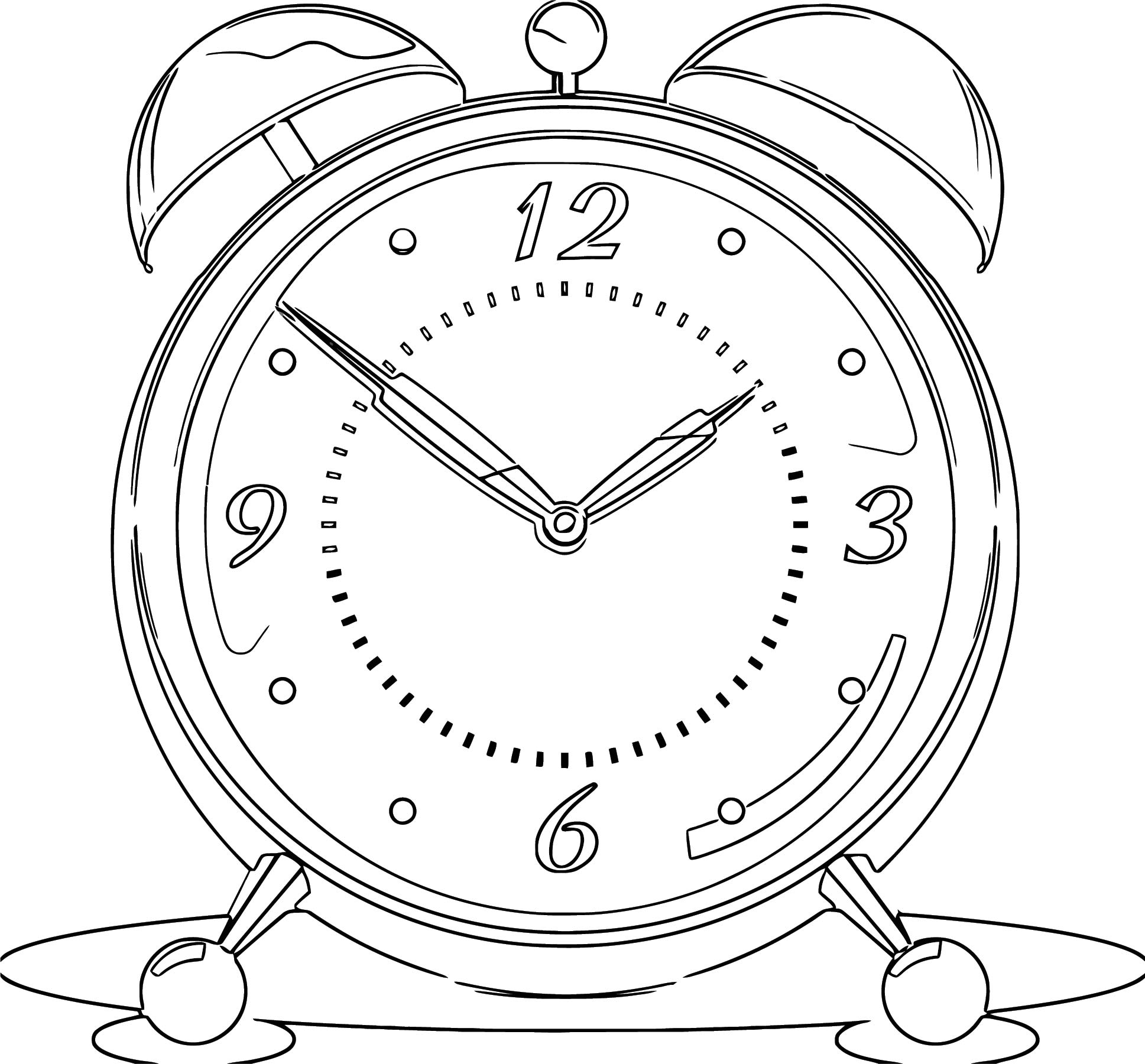Clock Png65 Free Printable 89 Cartoonized Free Printable Coloring Page