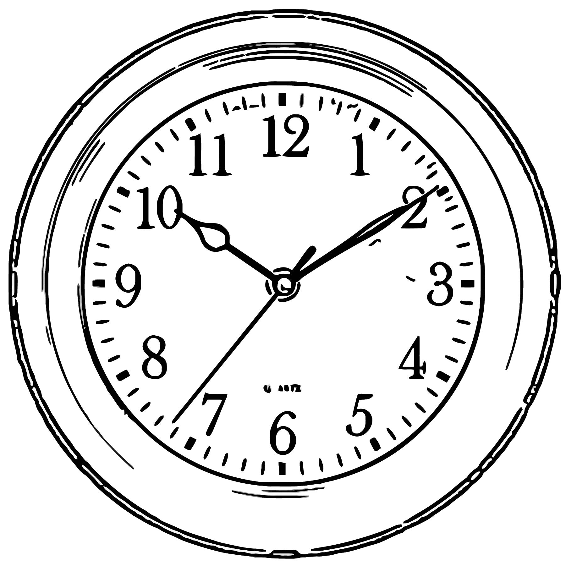 Clock Png66 Free Printable 05 Cartoonized Free Printable Coloring Page