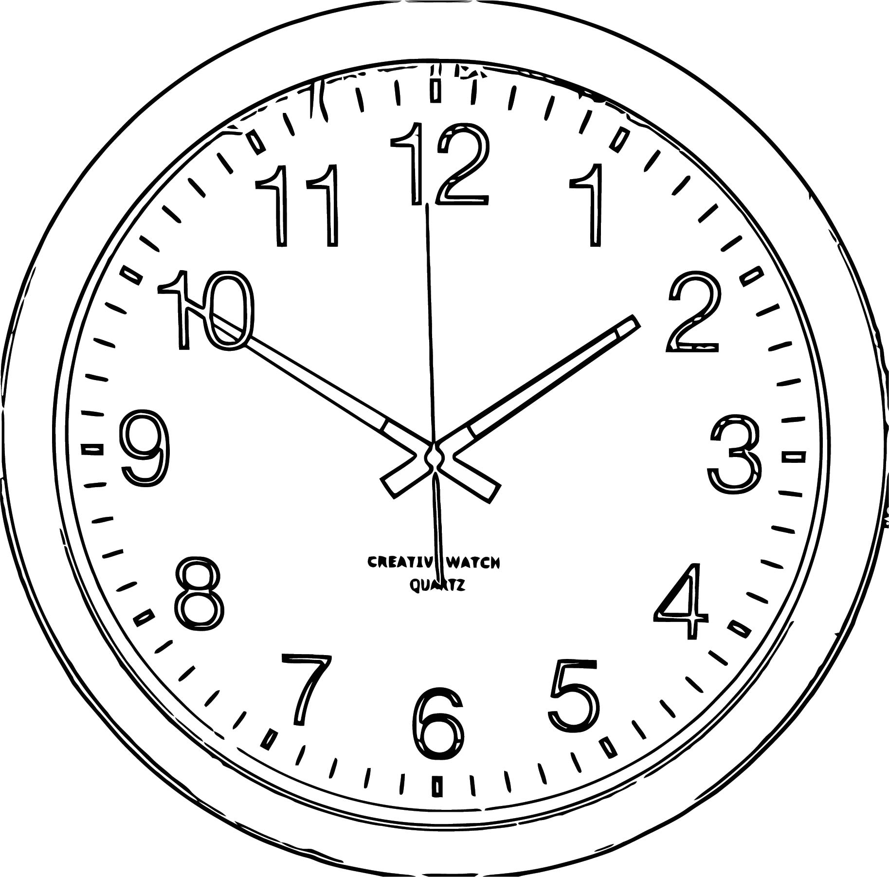 Clock Png66 Free Printable 44 Cartoonized Free Printable Coloring Page