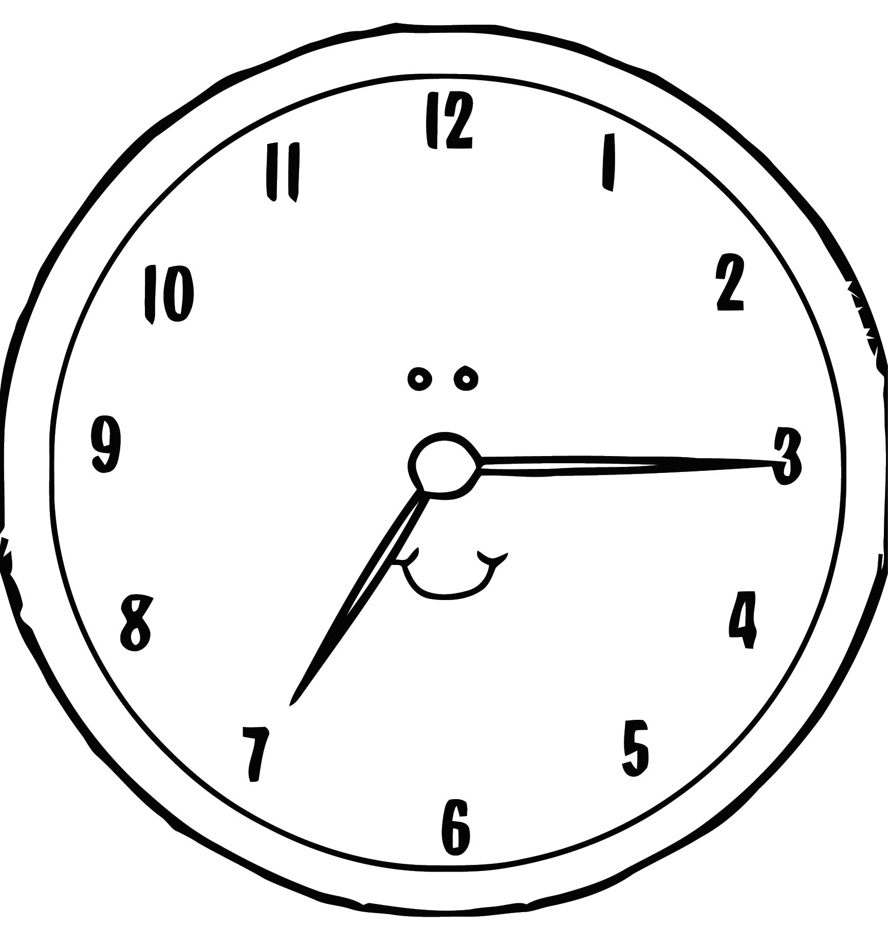 Clock Transpare Free Printable Nt Cartoonized Free Printable Coloring Page