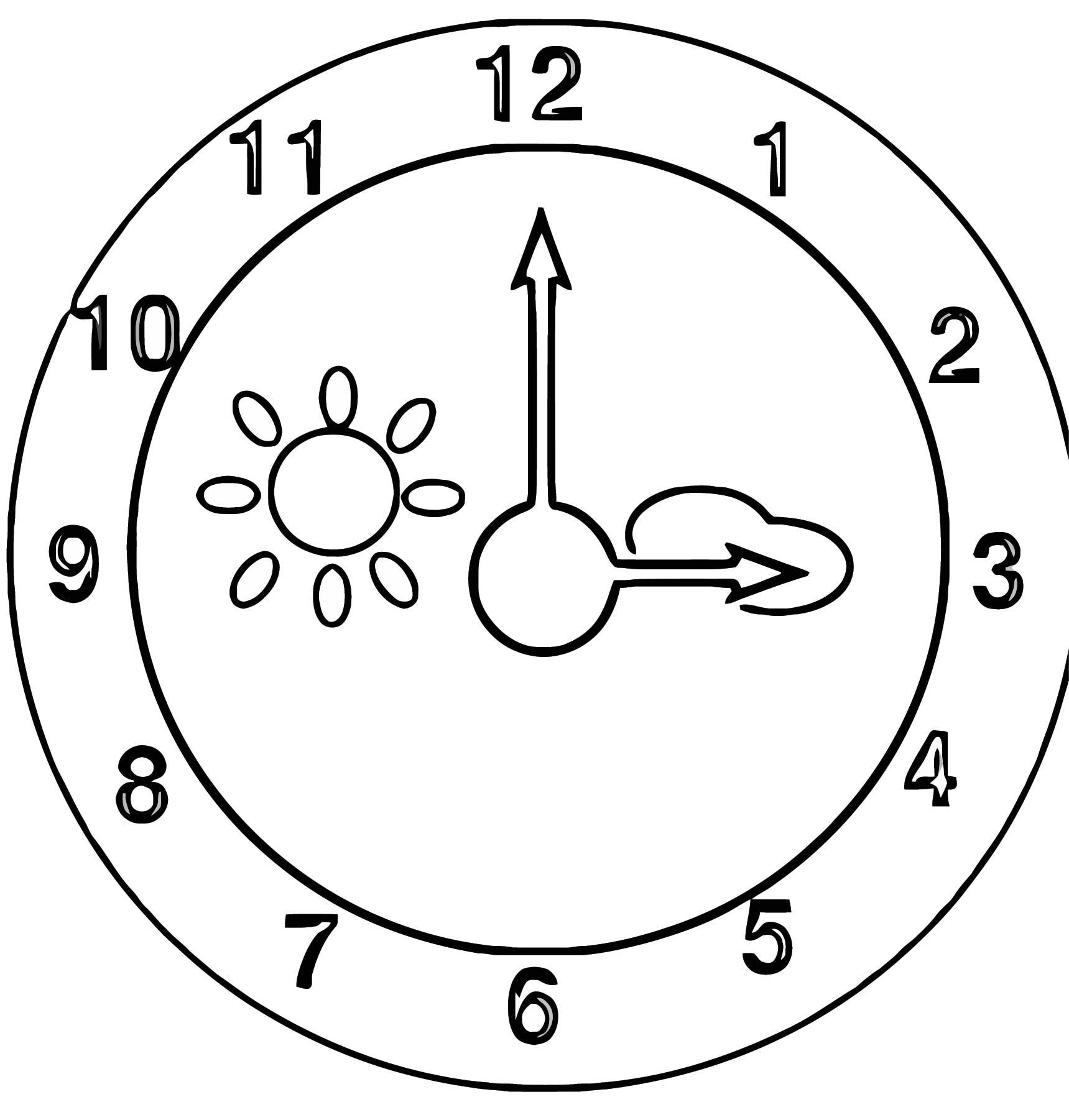 Clock Wa Free Printable Ll Cartoonized Free Printable Coloring Page