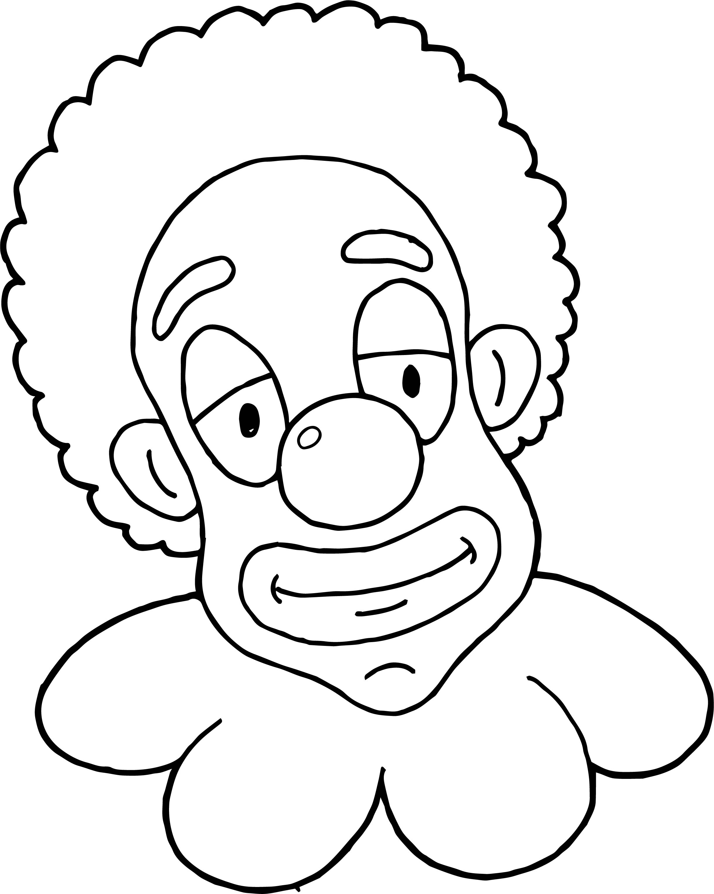 Clown Coloring Page WeColoringPage 007