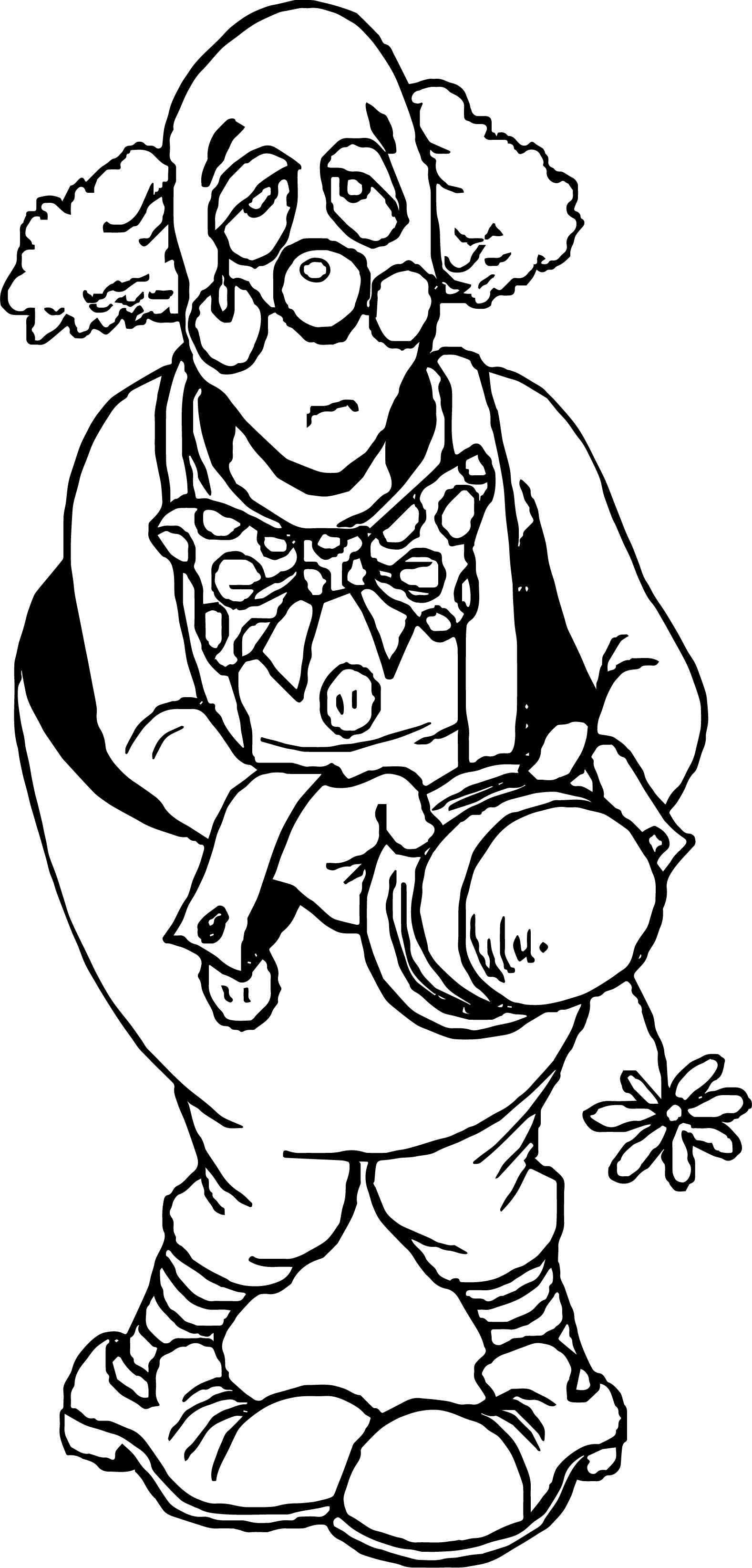 Clown Coloring Page WeColoringPage 011