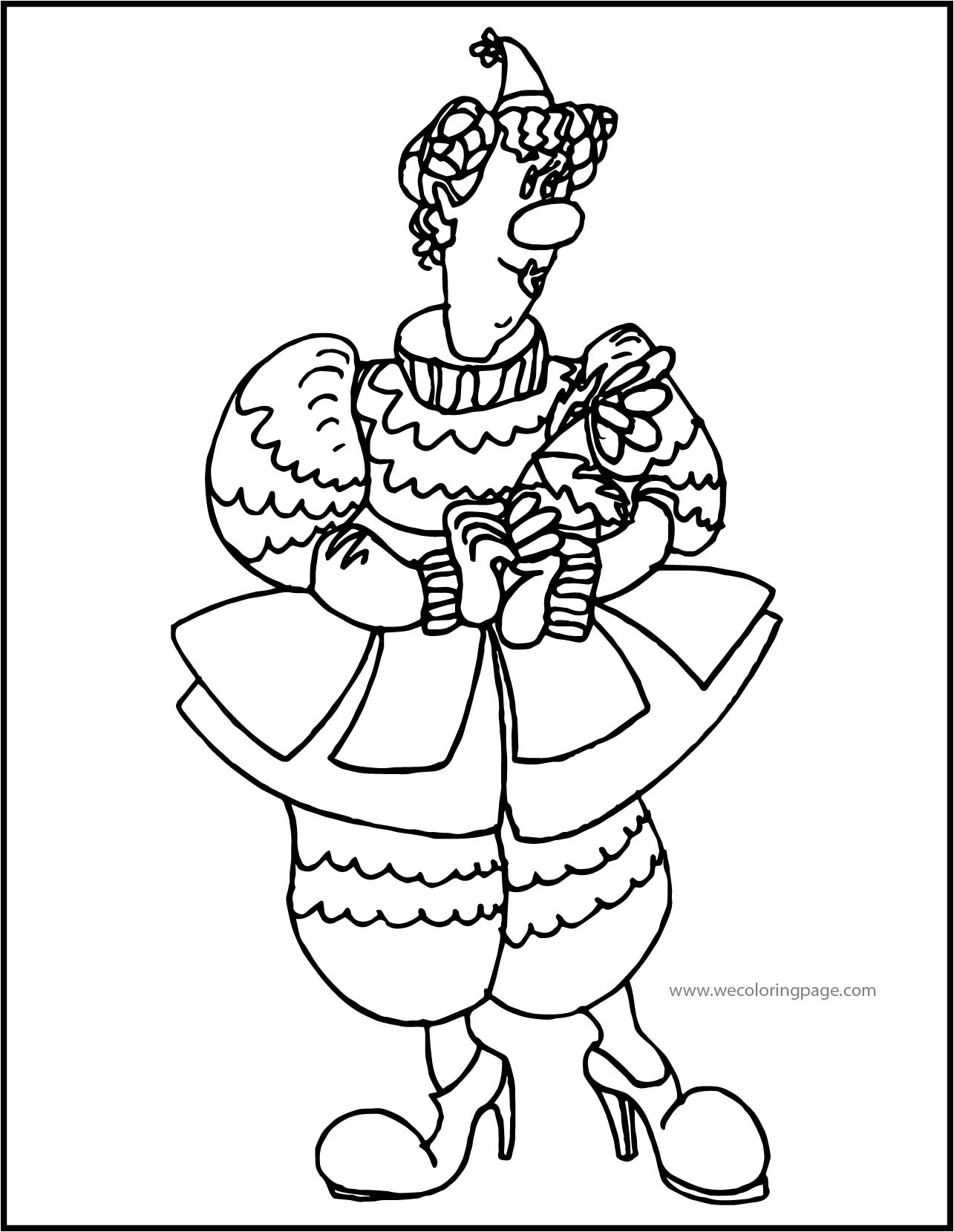 Clown Coloring Page WeColoringPage 018