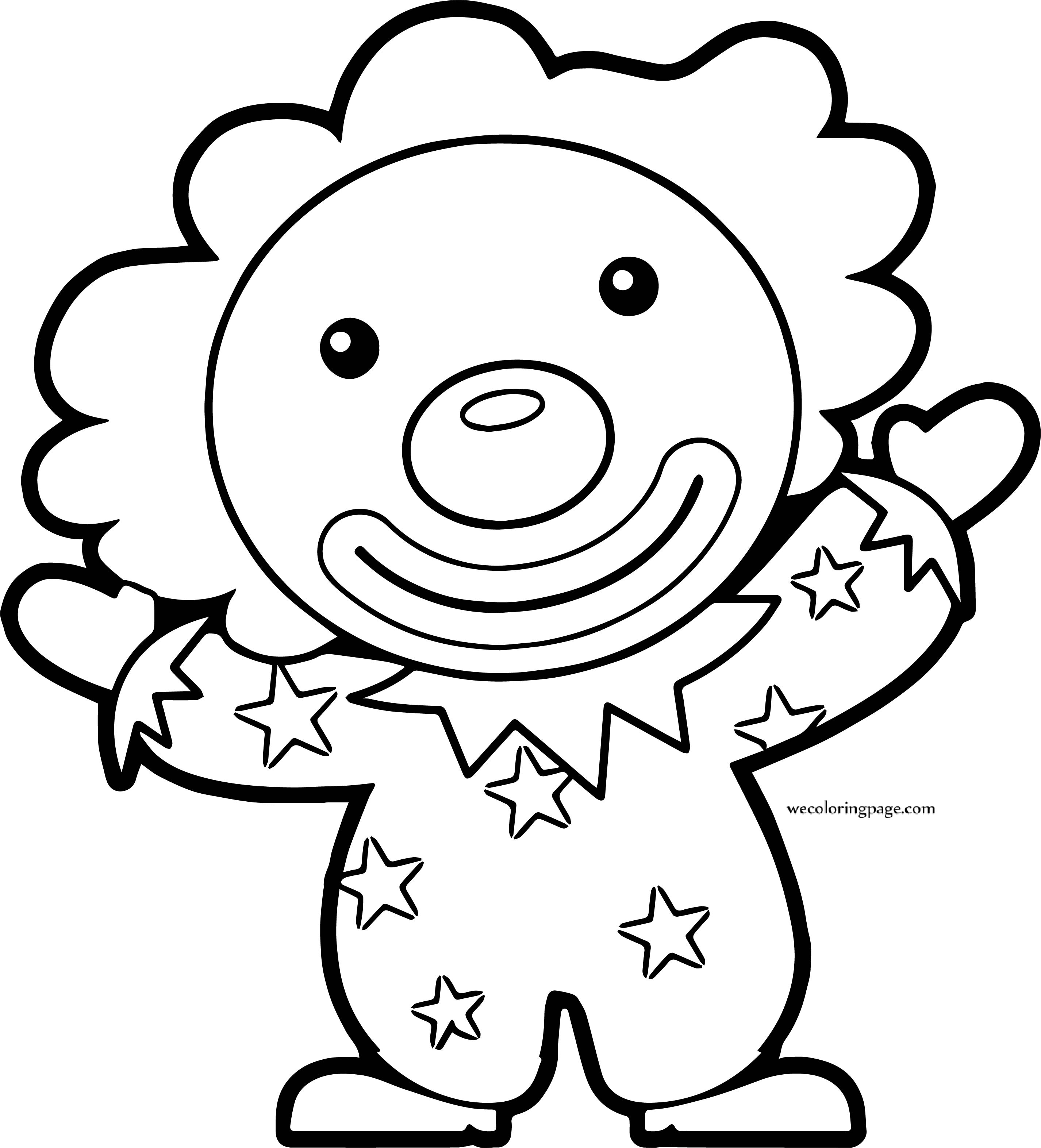 Clown Coloring Page WeColoringPage 037