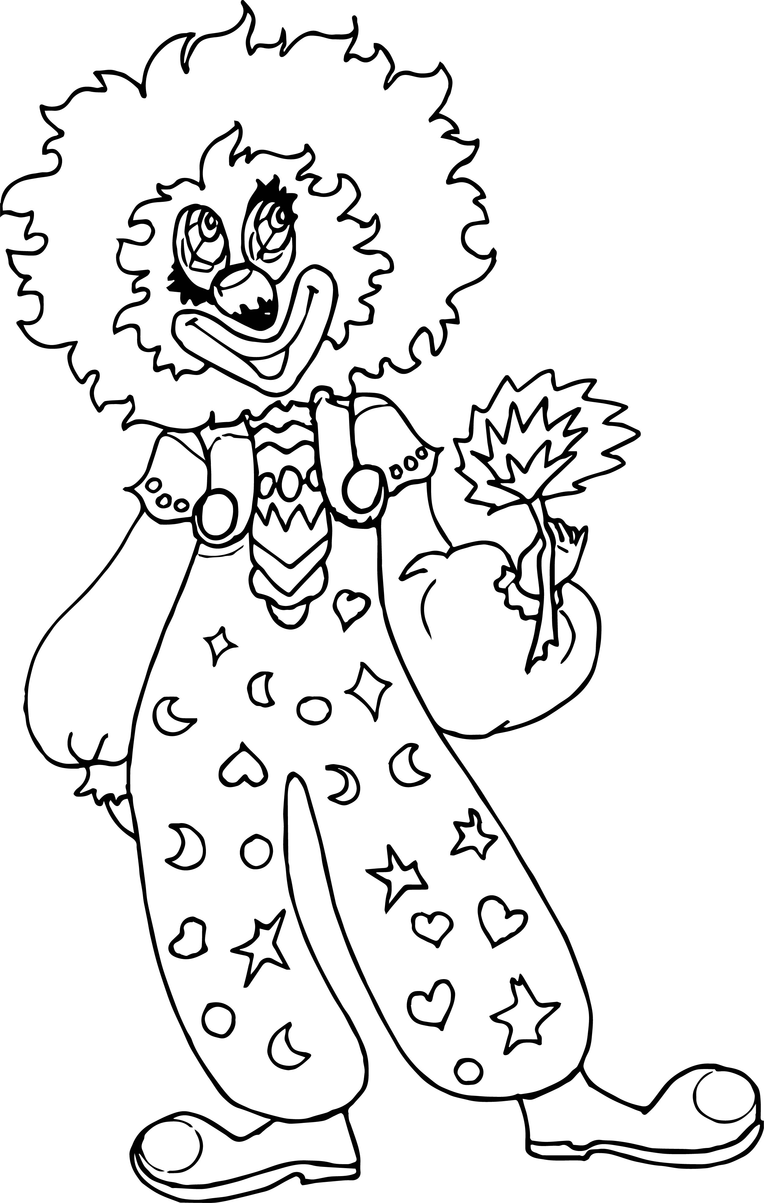 Clown Coloring Page WeColoringPage 091