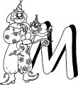 Clown M Coloring Page
