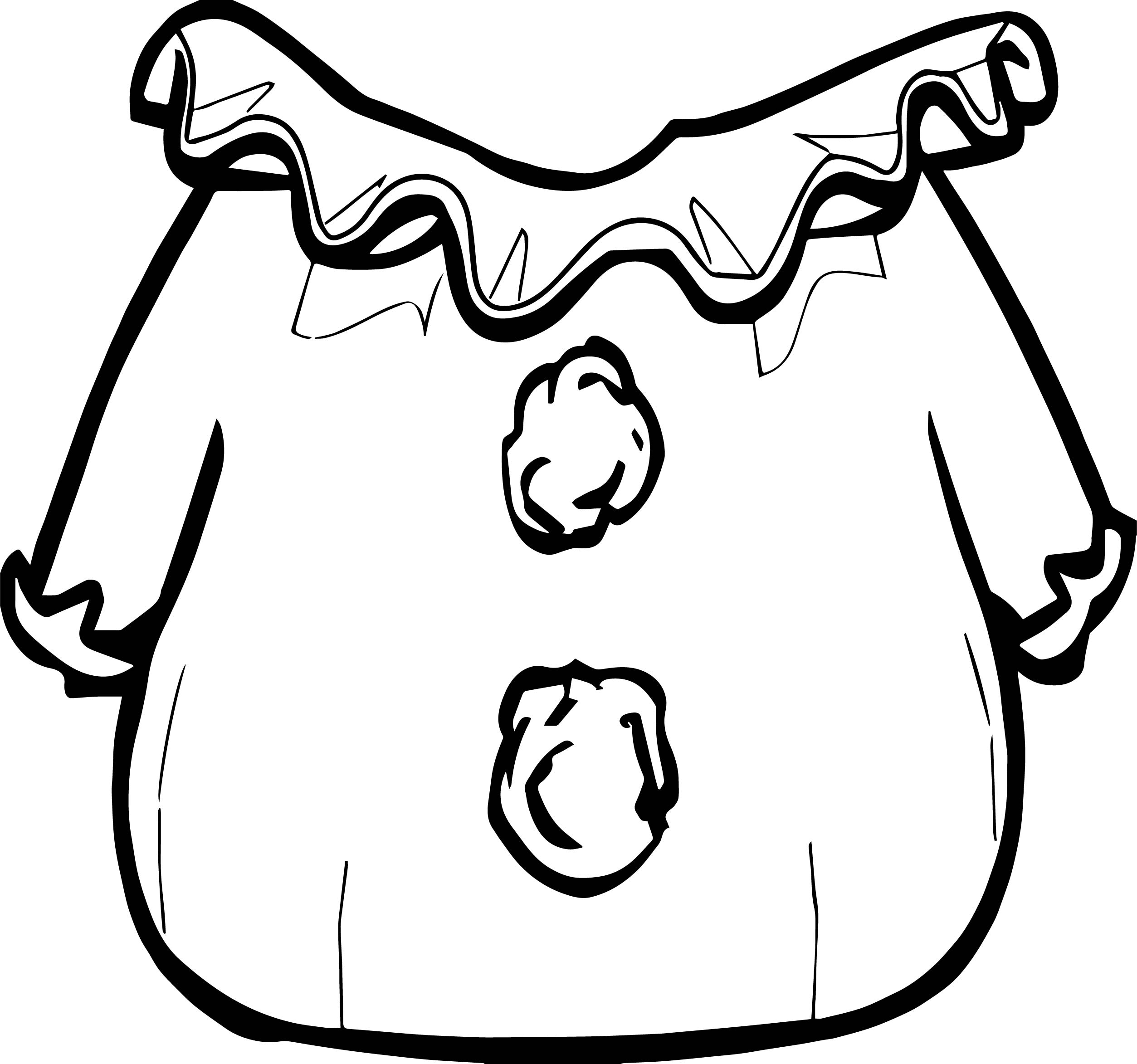 Clown Suit Clothing Coloring Page