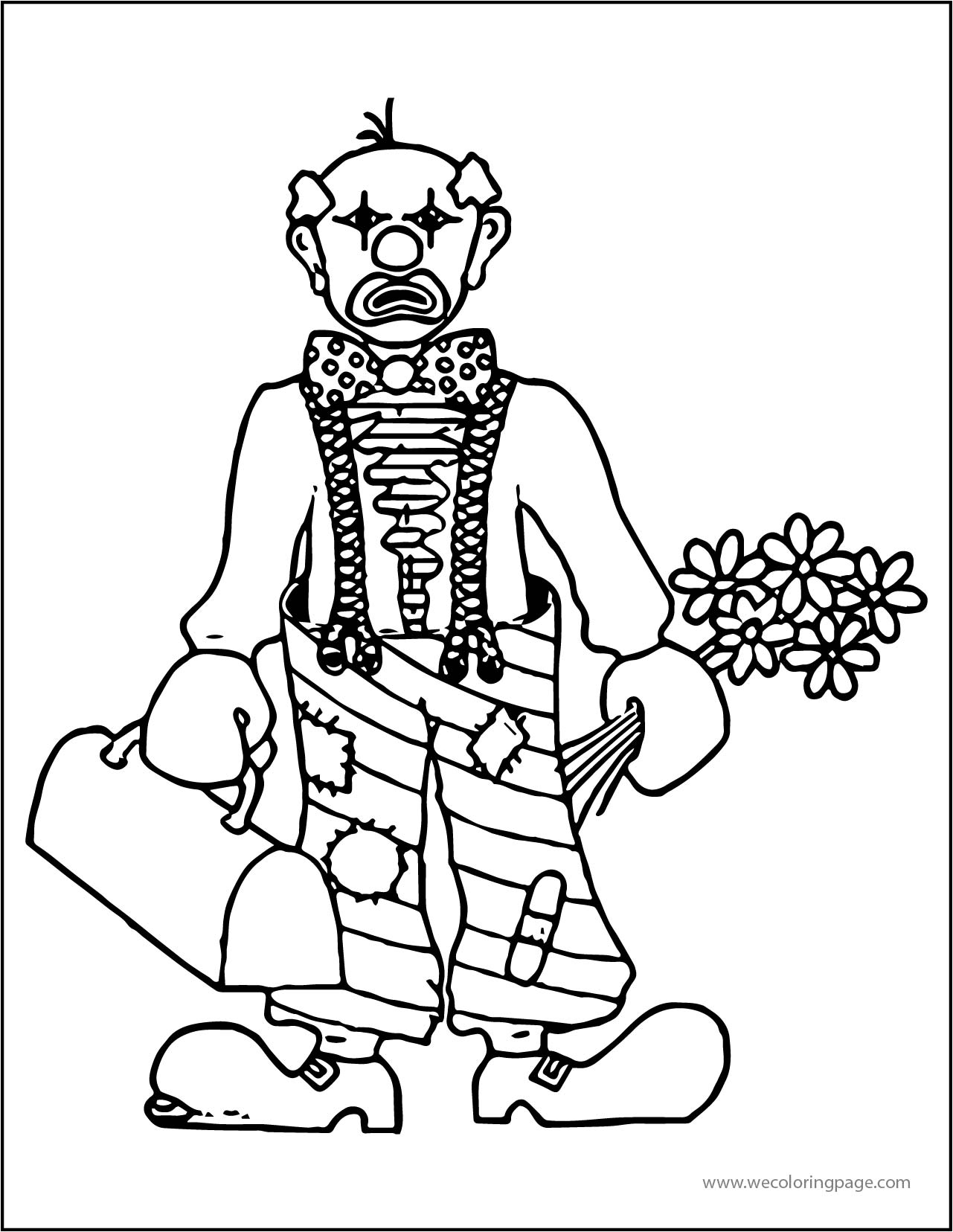 Clown Wecoloringpage A4 03 Coloring Page