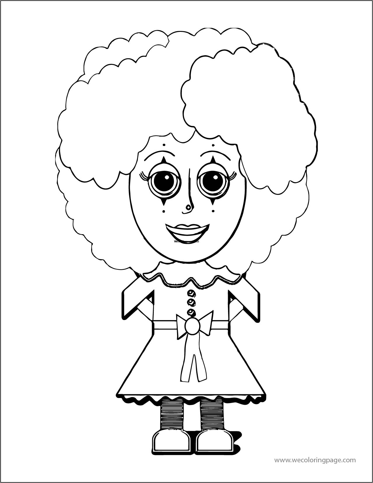Clown Wecoloringpage A4 06 Coloring Page