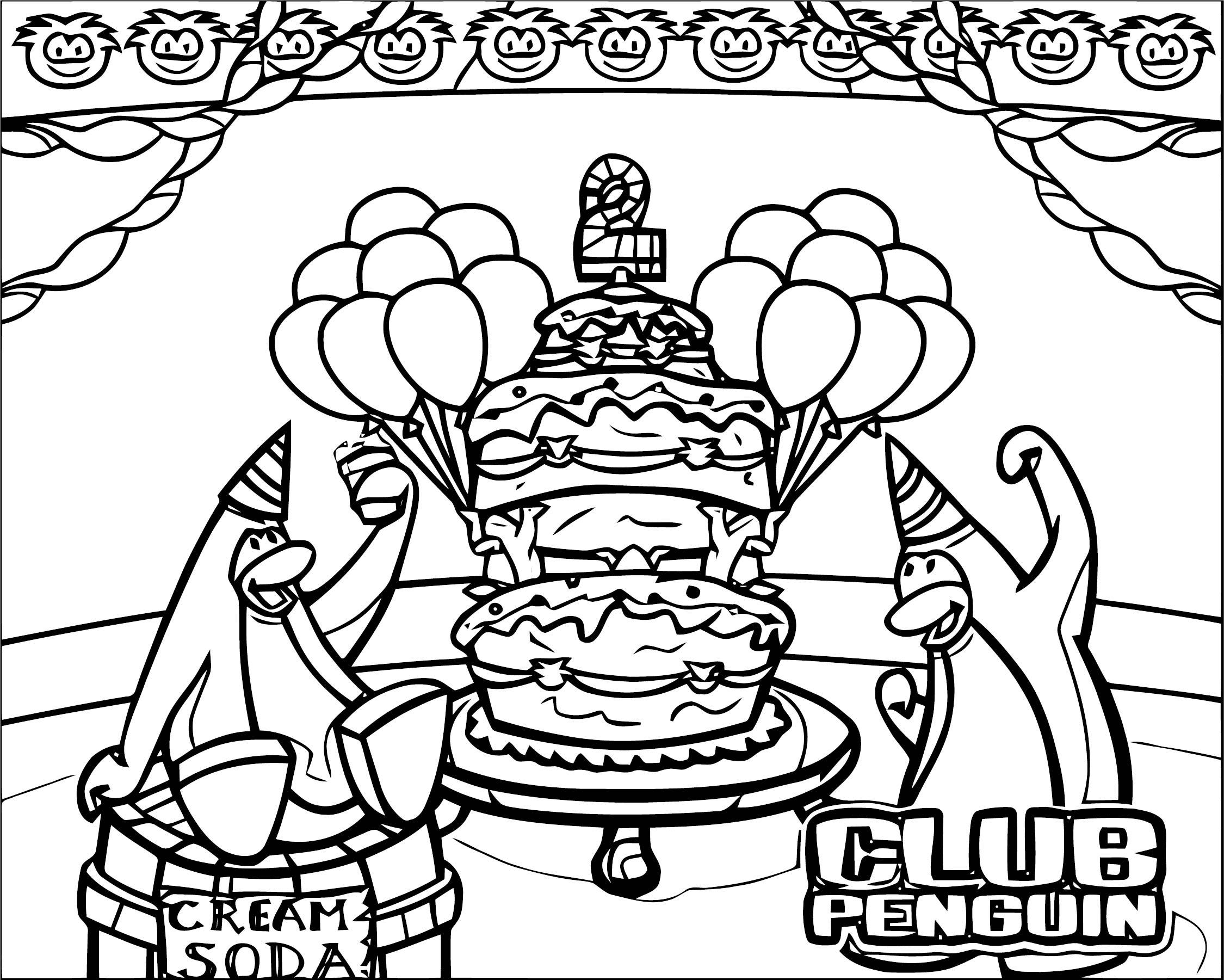 Club Penguin 17 ClubPenguin 1 Coloring Page