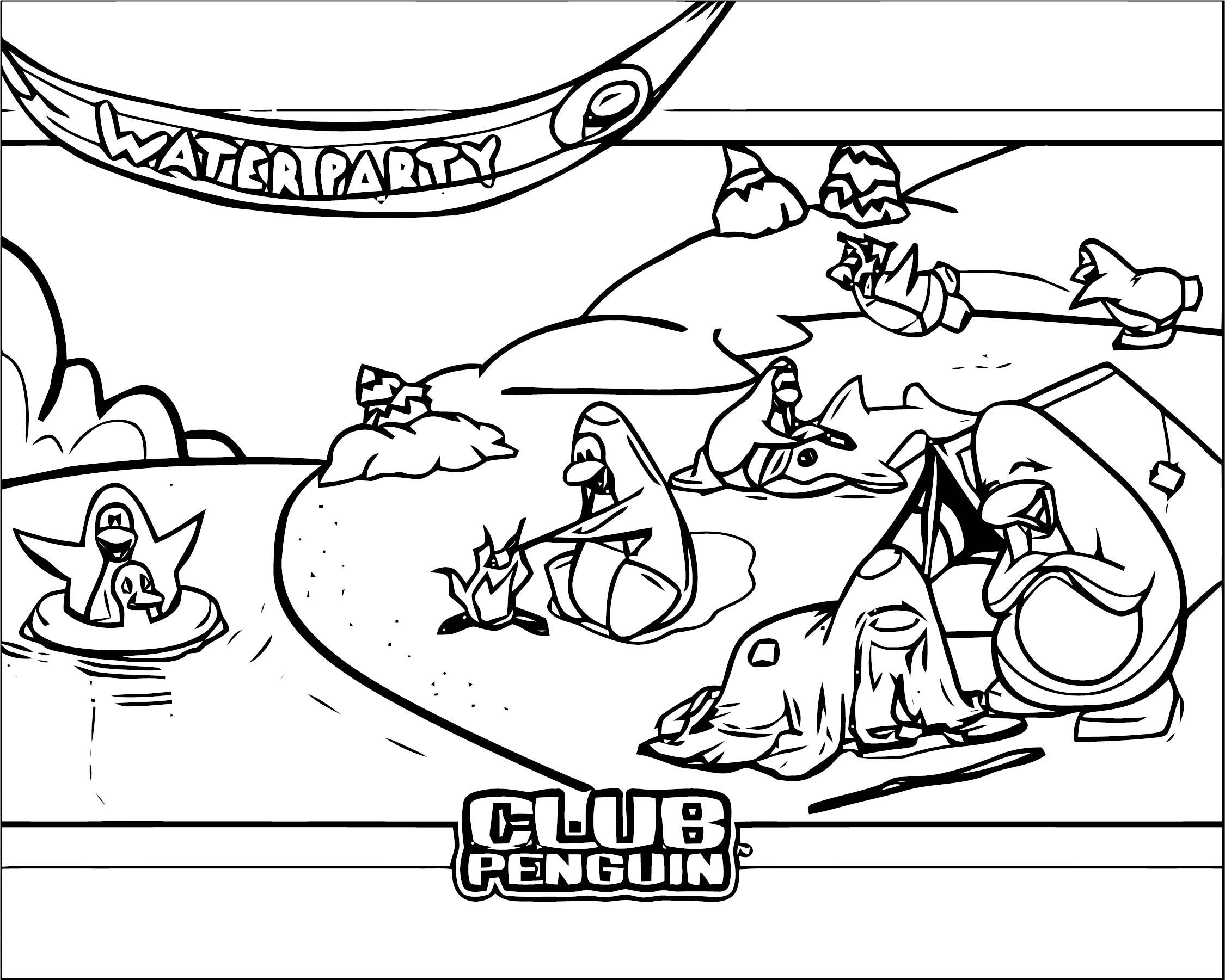 Club Penguin 21 ClubPenguin 1 Coloring Page