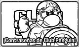 Club Penguin America Coloring Page