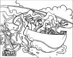 Club Penguin Boat Coloring Page