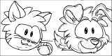 Club Penguin Cat And Dog Puffles ClubPenguin 1 Coloring Page