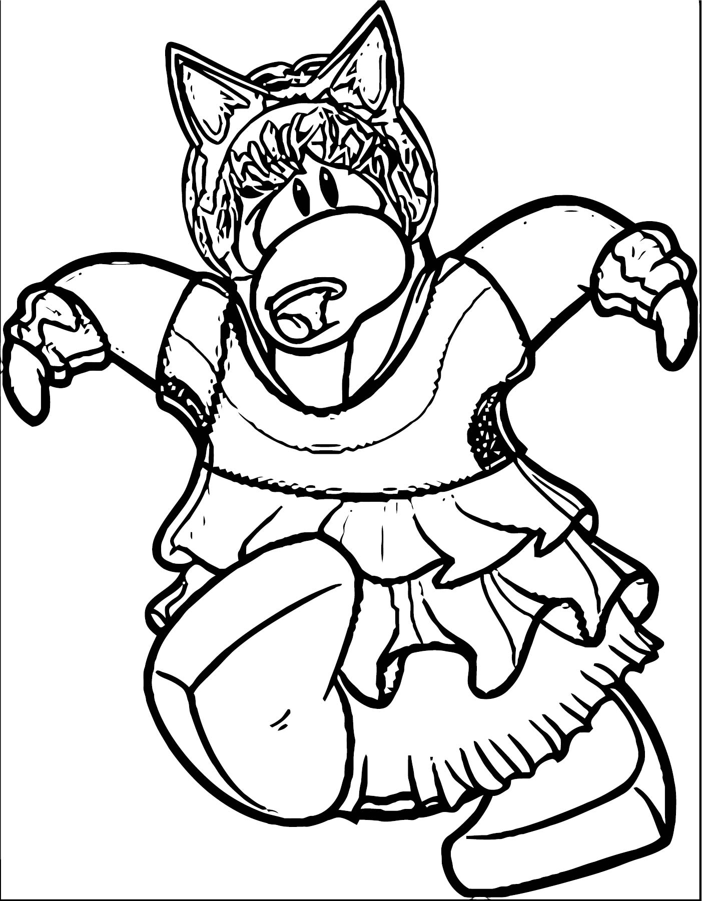 club penguin coloring pages of rockhopper exploration | Club Penguin Catpenguin ClubPenguin 1 Coloring Page ...