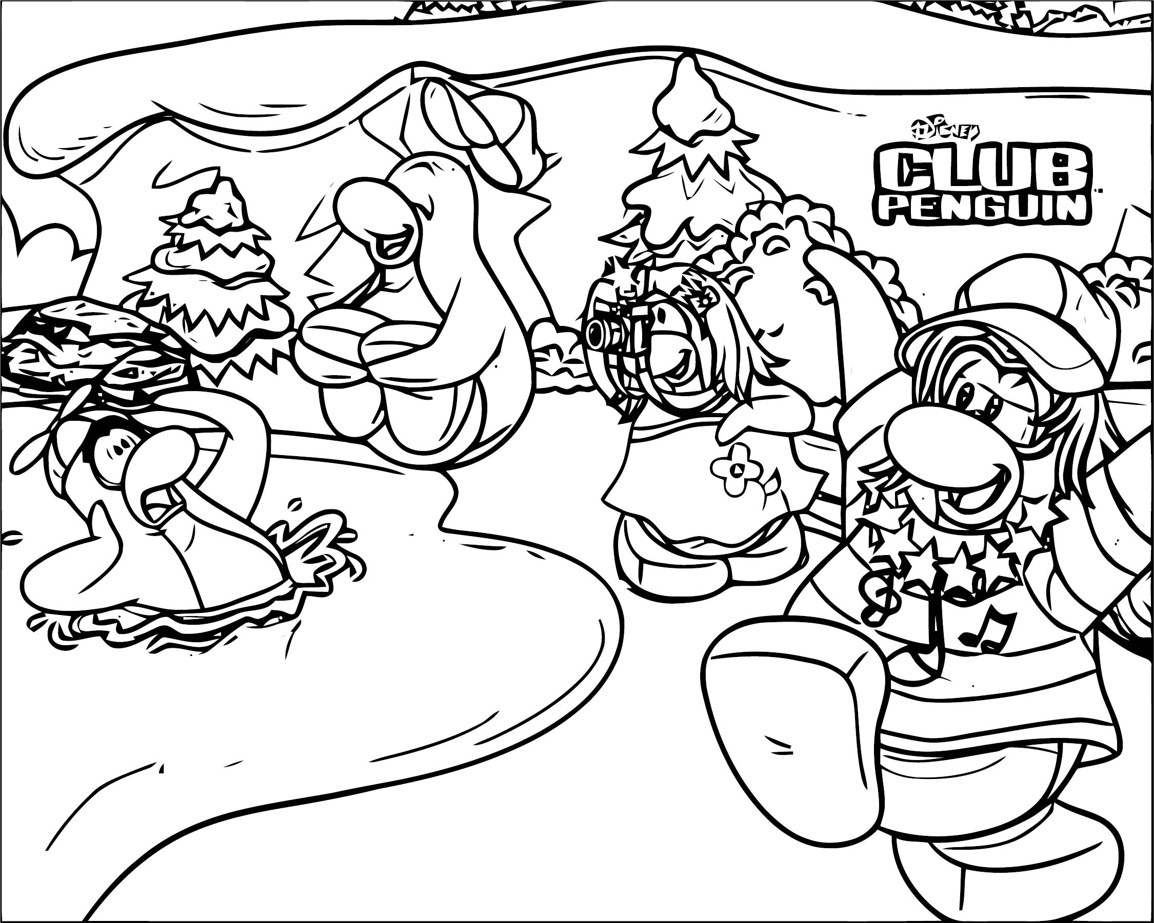 Club Penguin Club Penguin Coloring Page