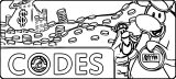 Club Penguin Codes Header Bordered Coloring Page