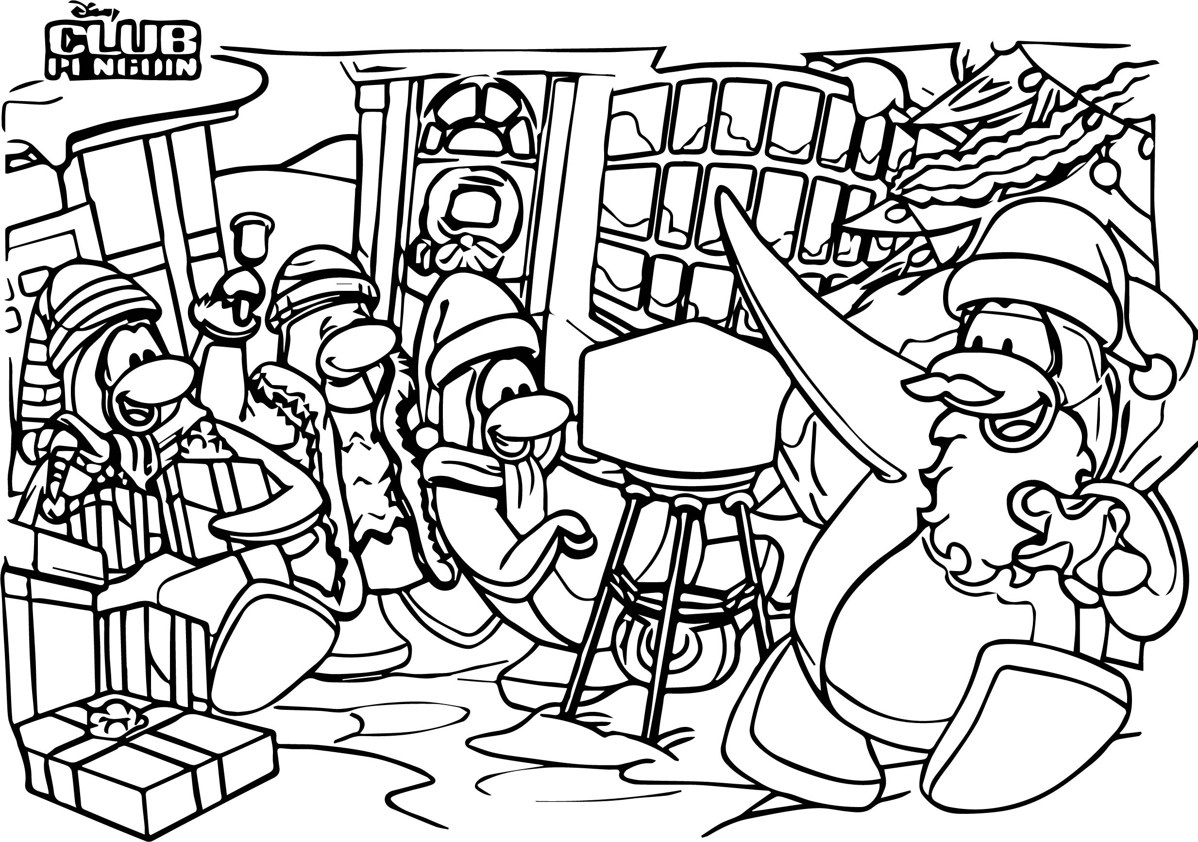 Club Penguin Coloring Page 03