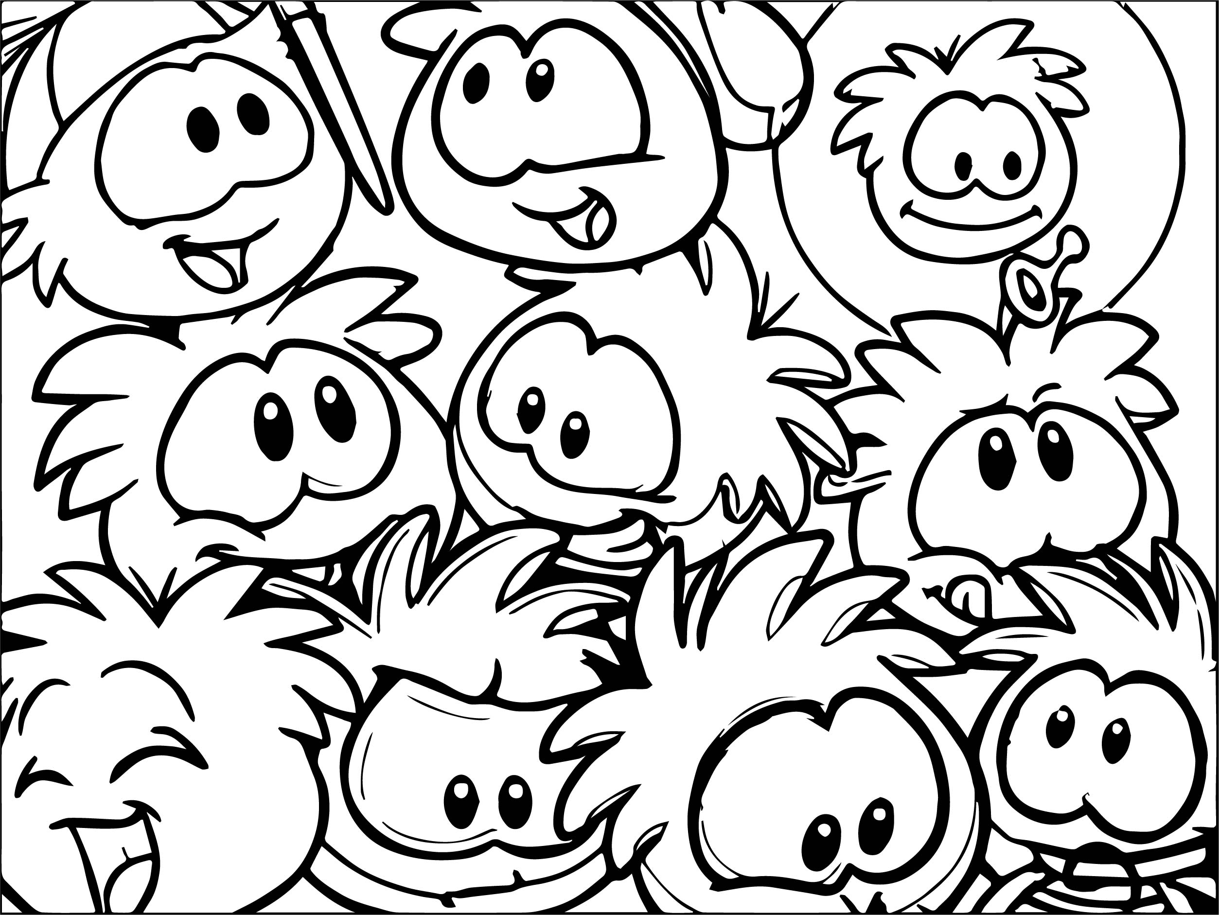 Club Penguin Coloring Page 11