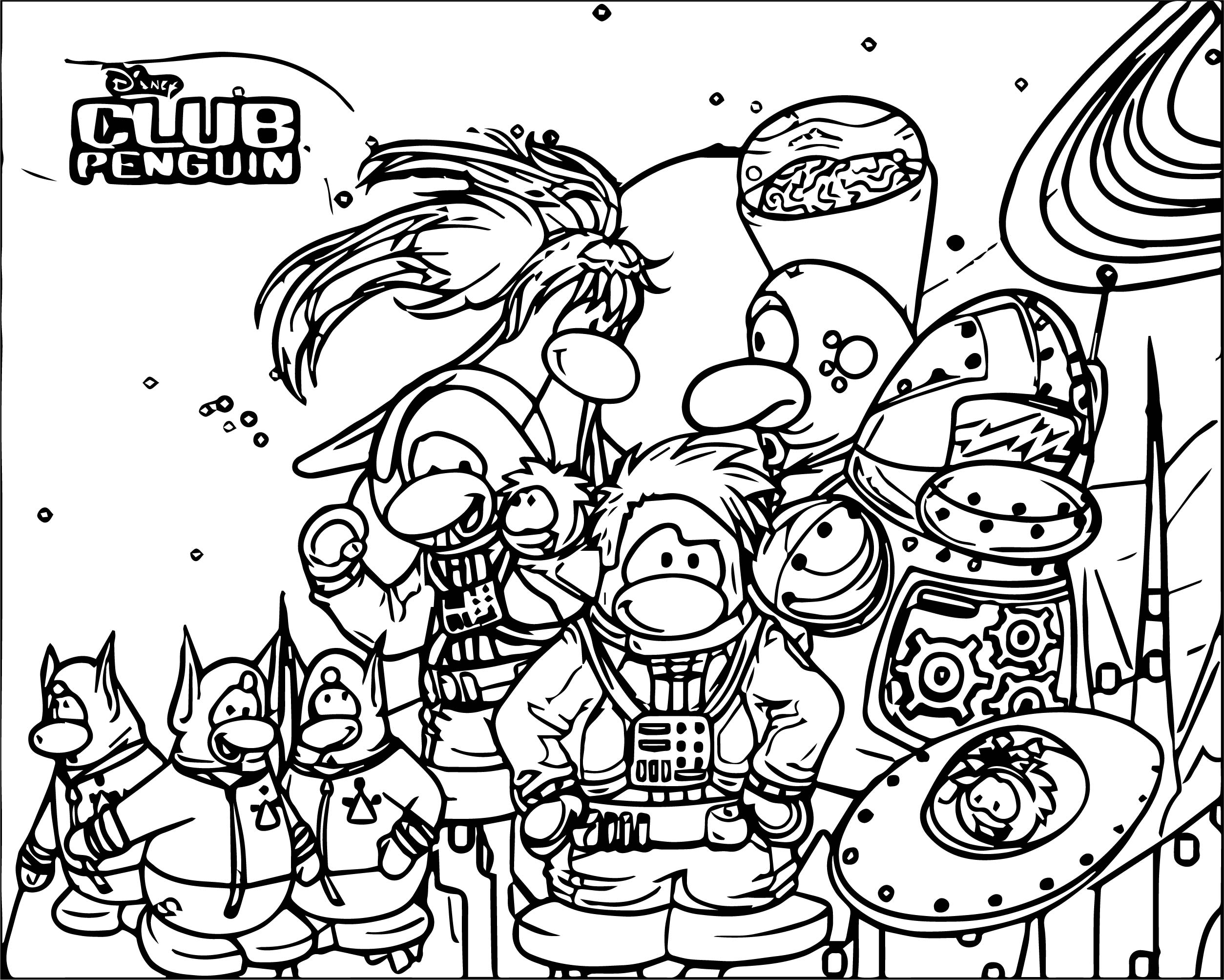 Club Penguin Coloring Page 14