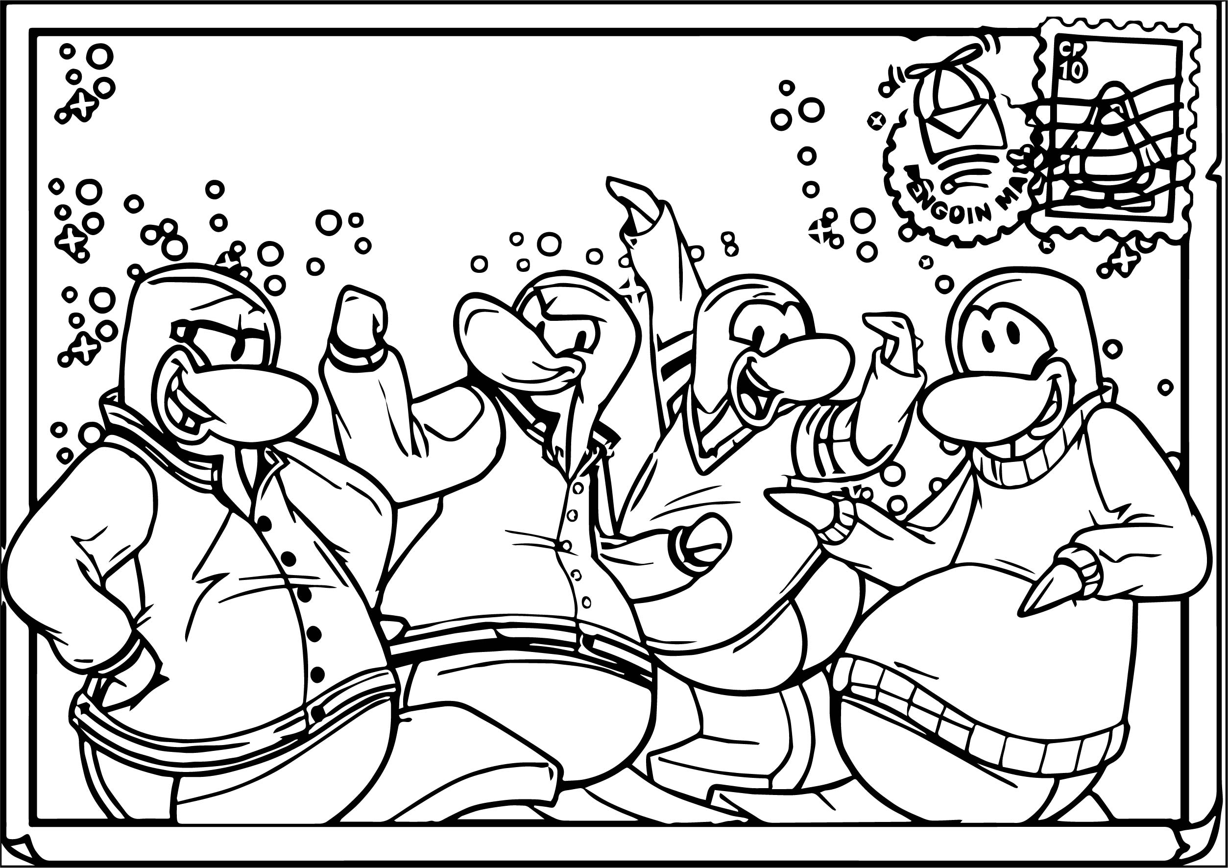Club Penguin Coloring Page 30