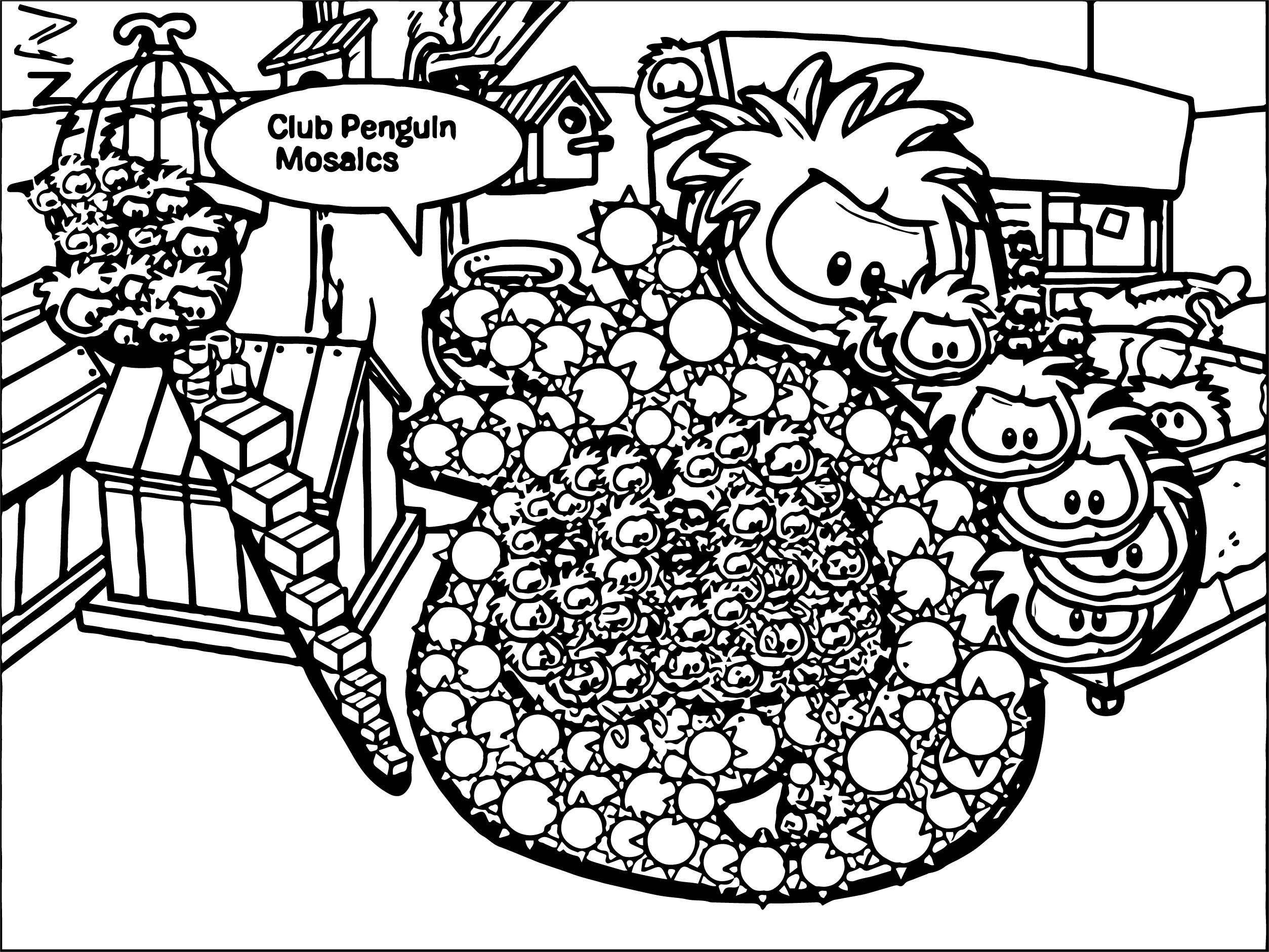 Club Penguin Coloring Page 44