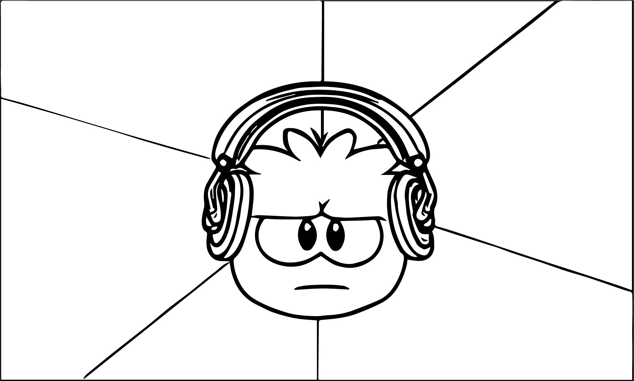 Club Penguin Coloring Page 48