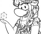 Club Penguin Elsa Princess Coloring Page