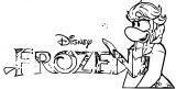 Club Penguin Frozen 7 Coloring Page