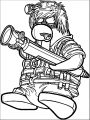 Club Penguin Ghost Hunter Coloring Page