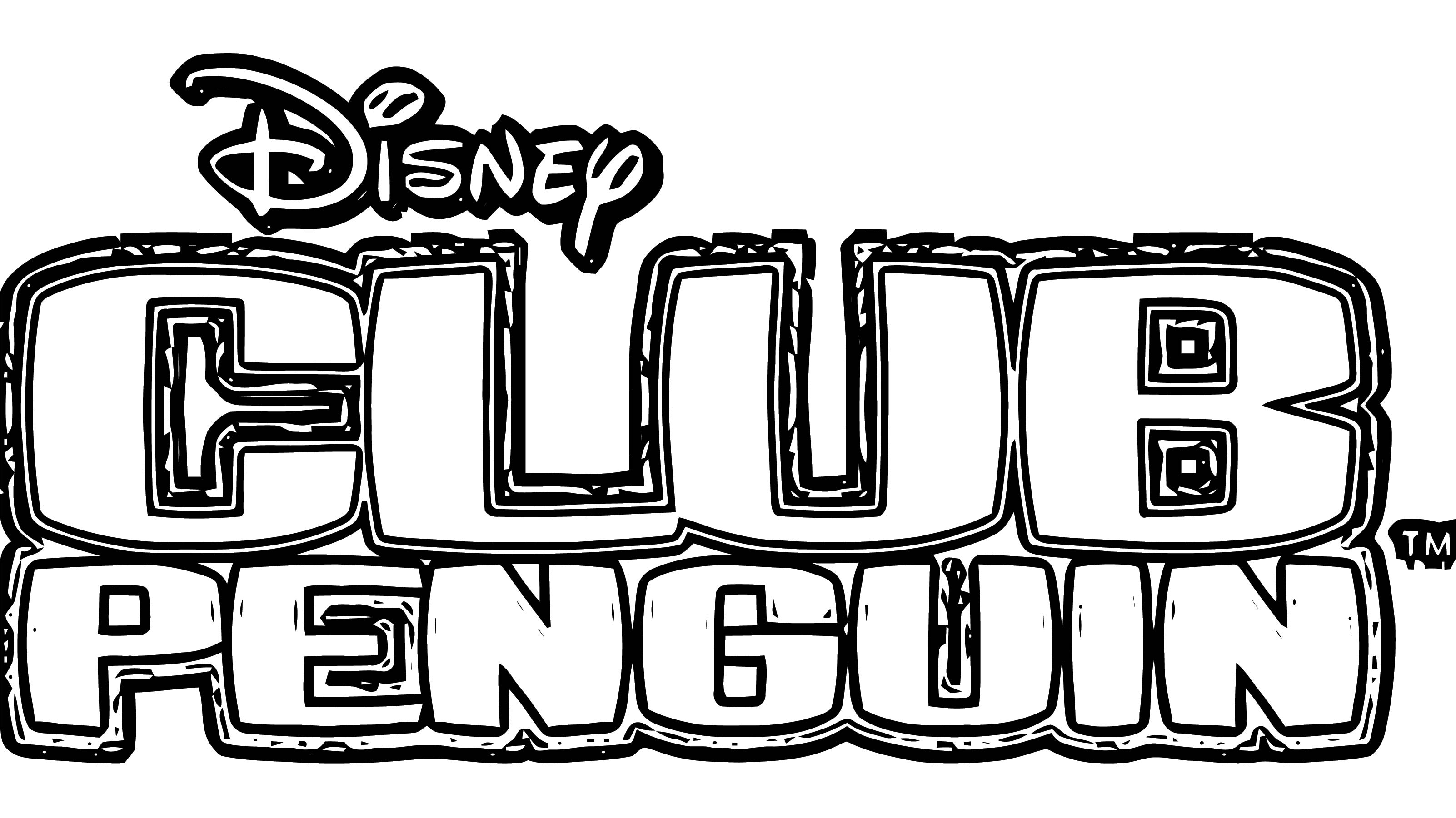 Club Penguin Logo Coloring Page