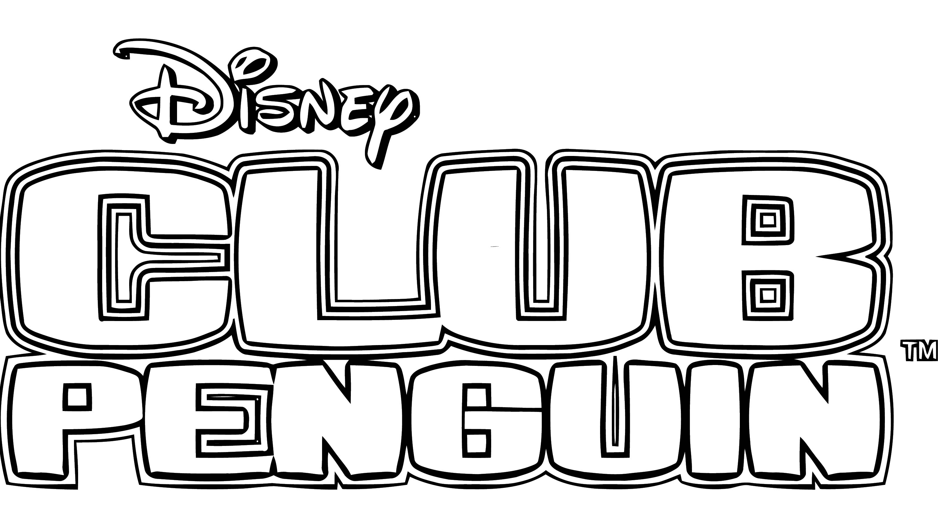 Club Penguin Logo For Club Penguin Coloring Page
