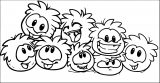 Club Penguin Puffles Coloring Page
