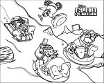 Club Penguin Sledding Coloring Page