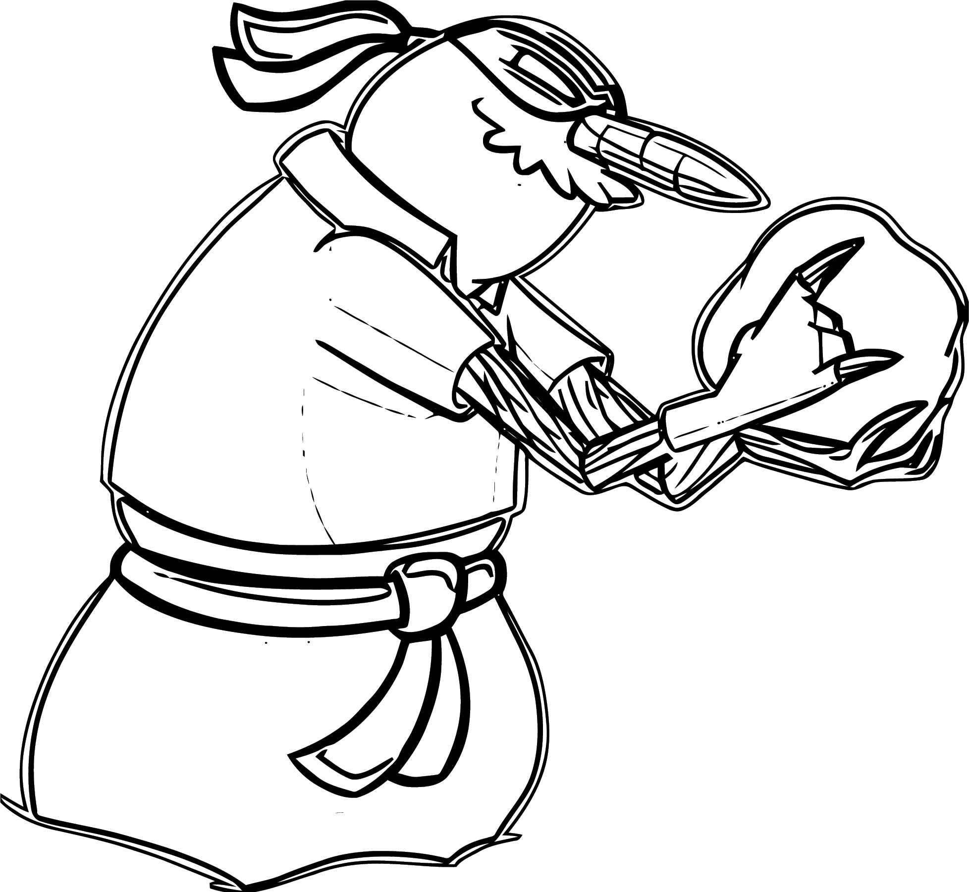 Club Penguin Villain 3 Coloring Page
