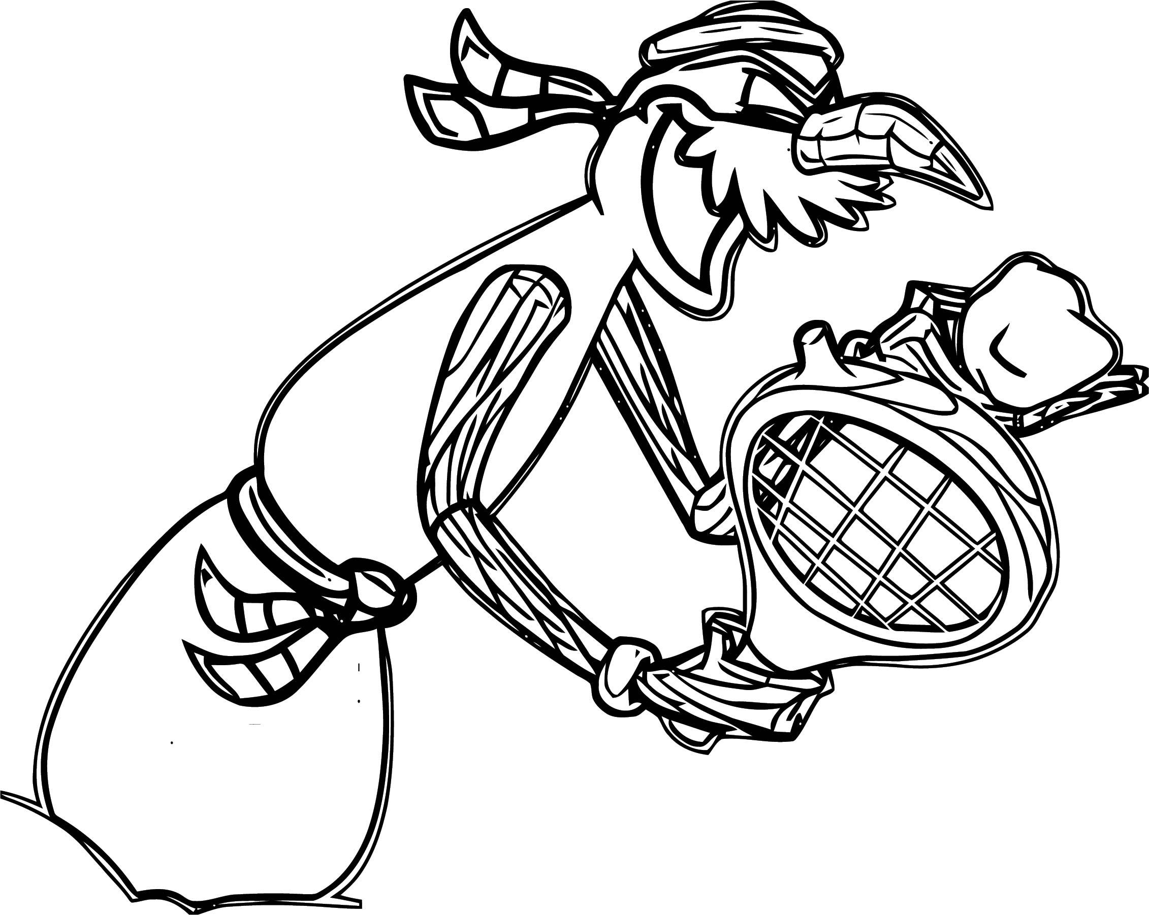 Club Penguin Villain Coloring Page