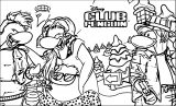 Club Penguin Wide Coloring Page