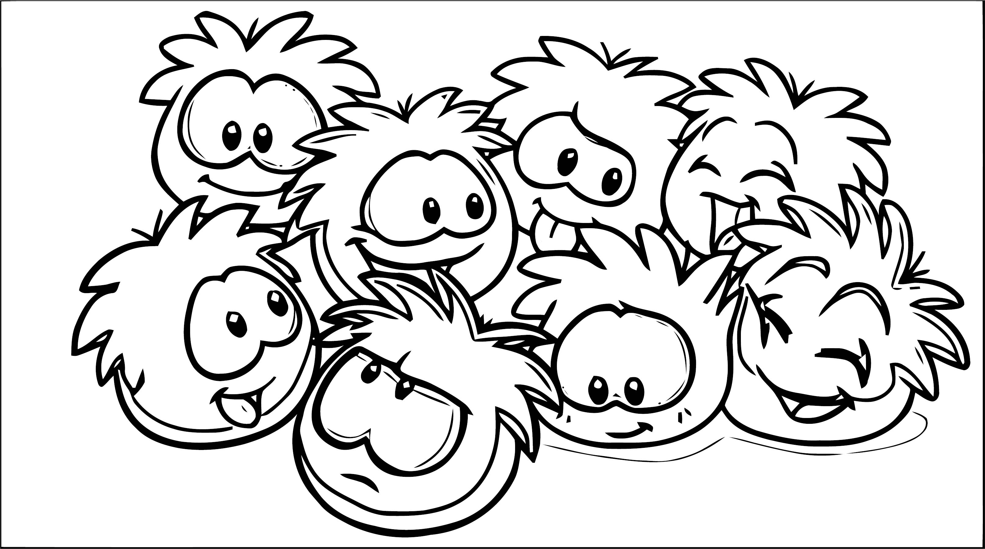 Clubpenguin Puffles Coloring Page