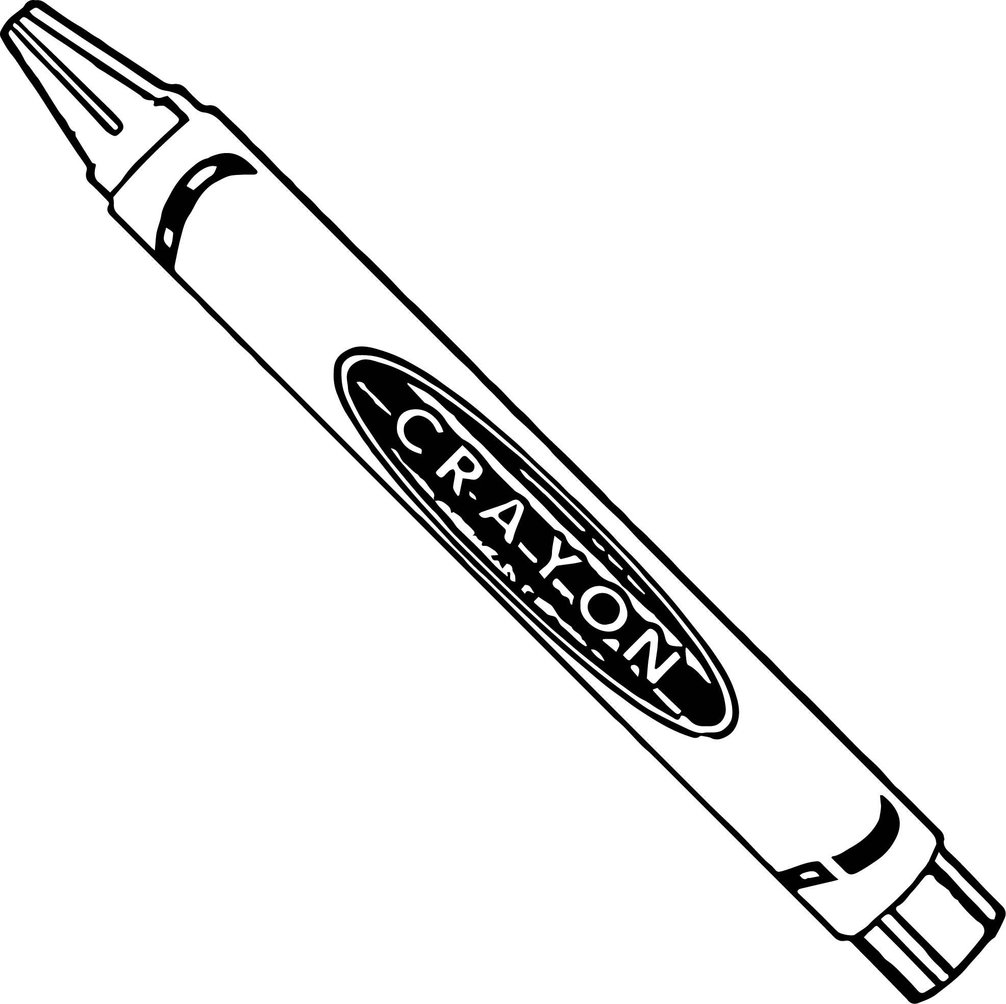 Crayon We Coloring Page 097