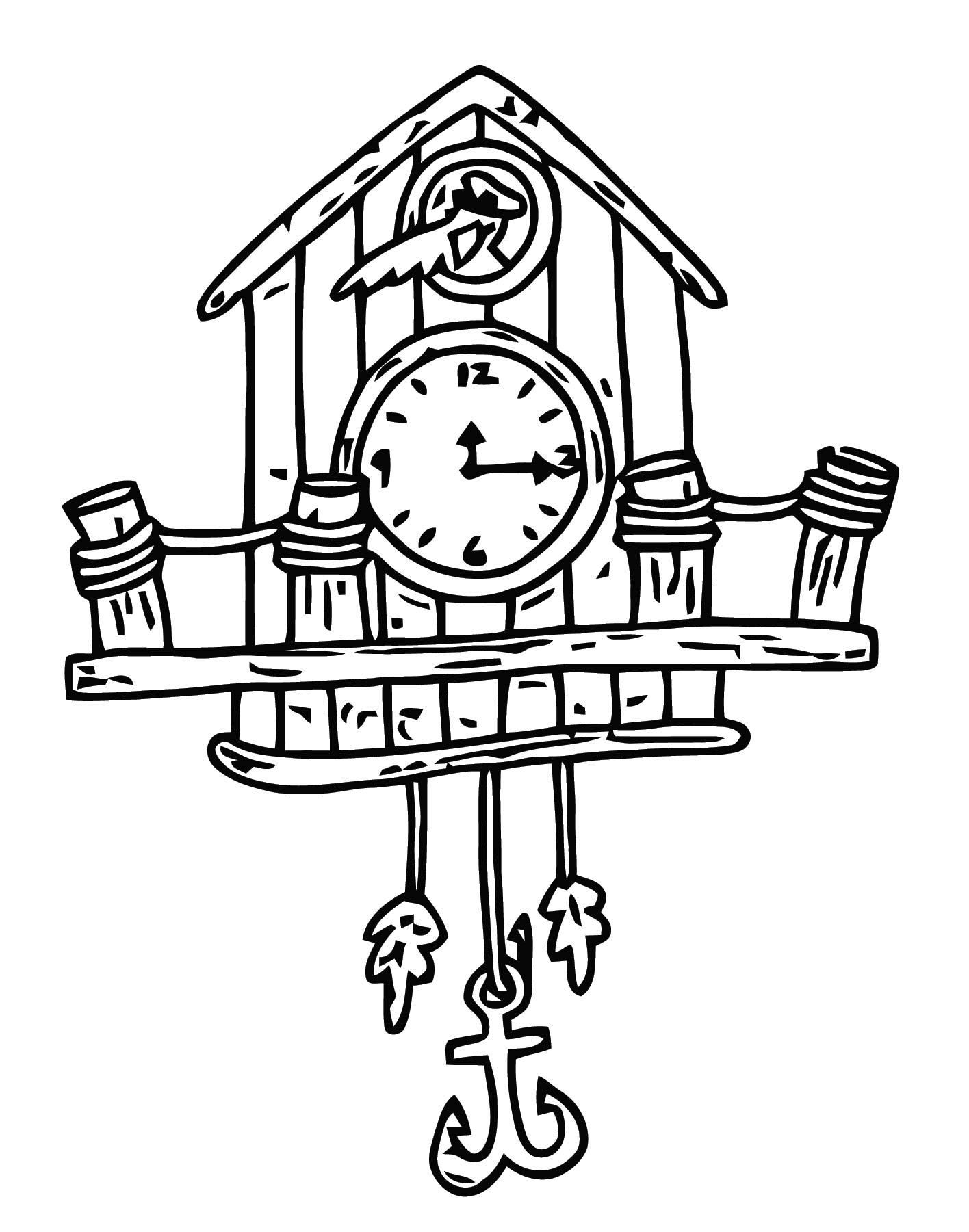 Cuckoo Clock Clip Art 4446 Free Printable 11 Cartoonized Free Printable Coloring Page