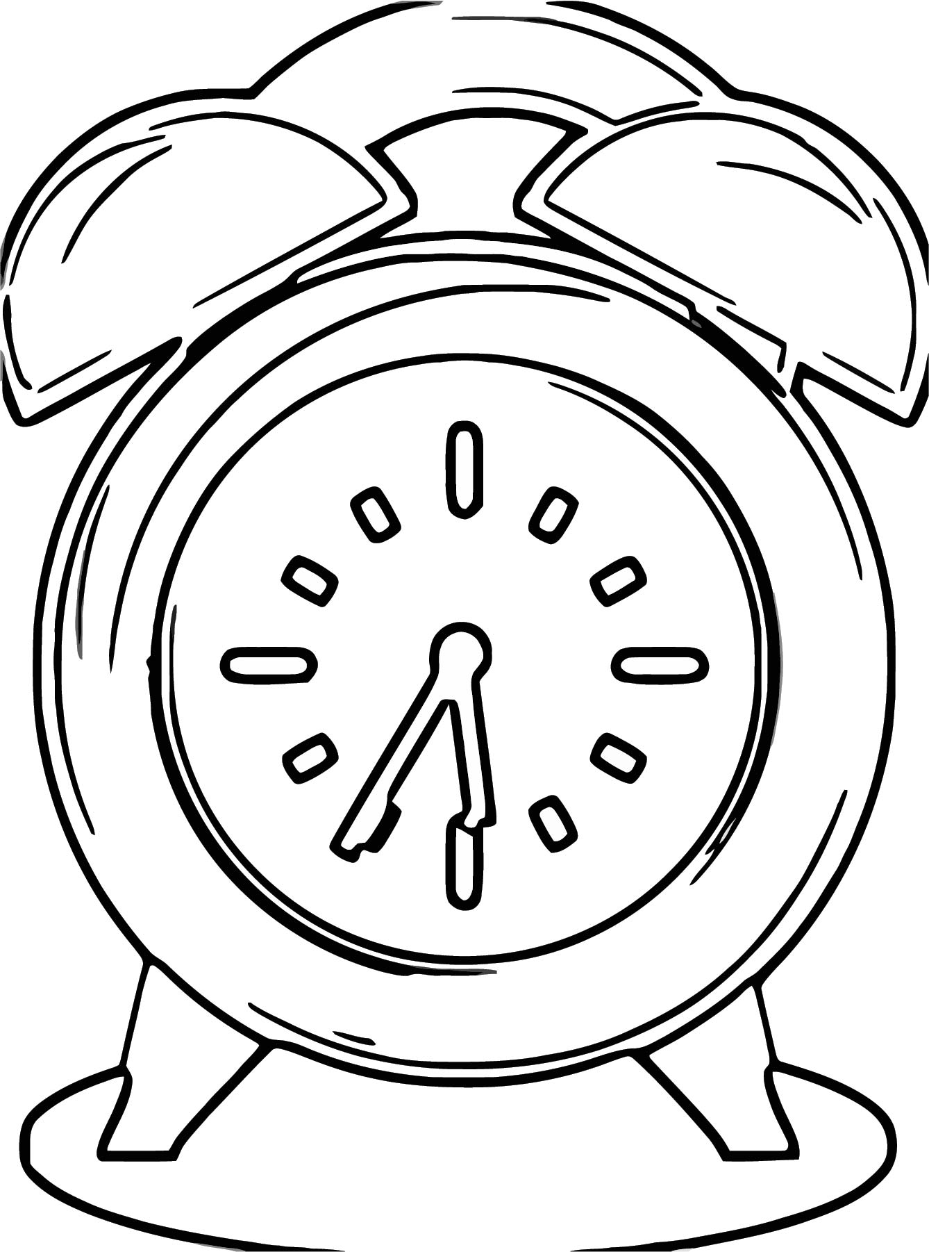Cute Clock Clipart Free Printable 2 Cartoonized Free Printable Coloring Page